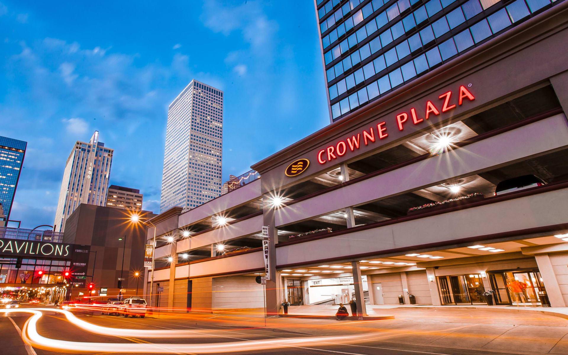 Crowne Plaza Denver Downtown:  Crowne Plaza Denver - long exposure evening