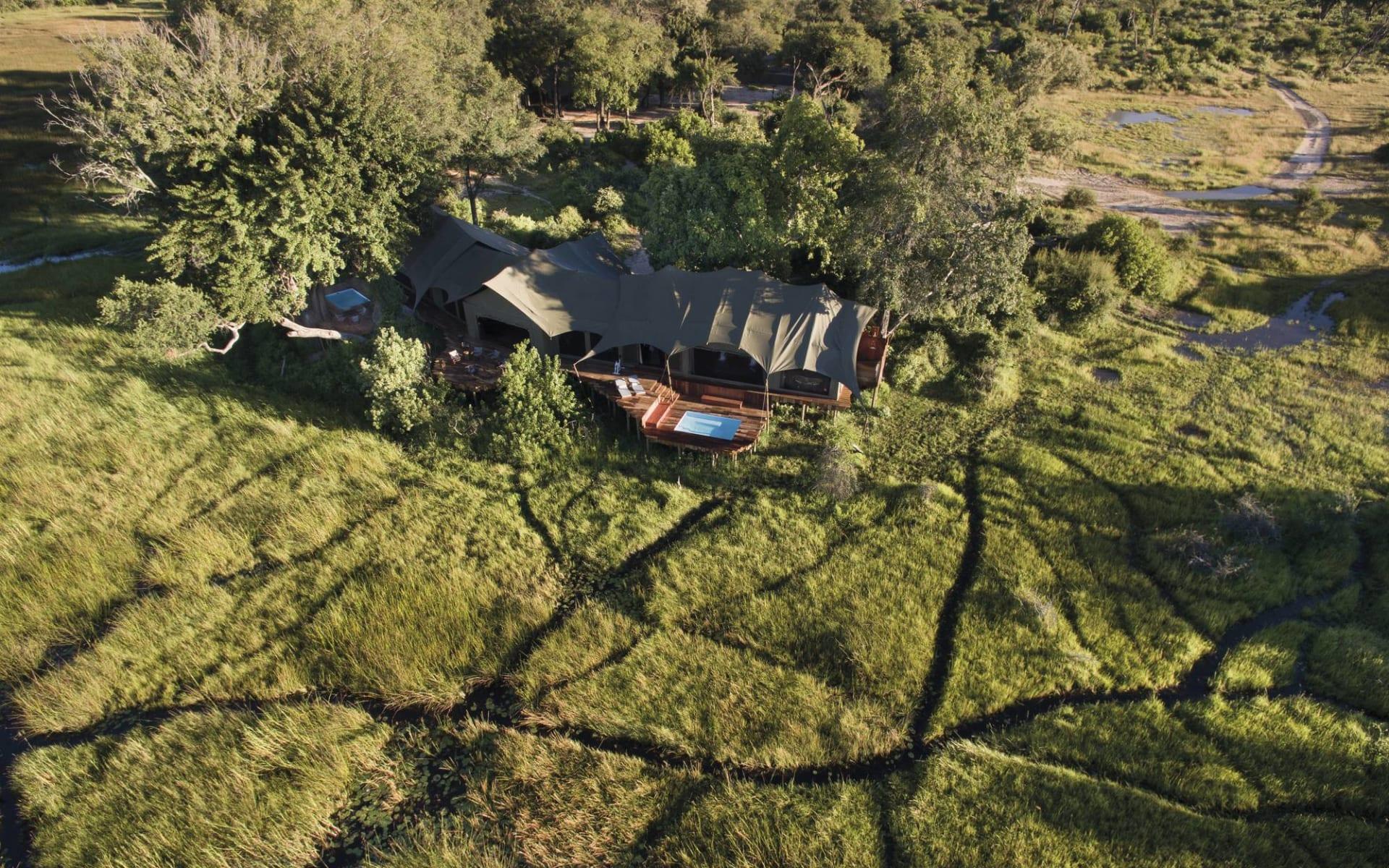 Duba Plains Suite in Okavango Delta:  Duba Plains Suite - Aussenansicht auf Villa c Great Plains