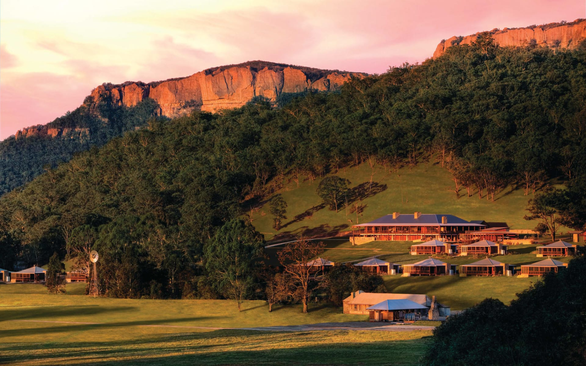 Emirates One & Only Wolgan Valley in Blue Mountains:  Emirates One&Only Wolgan Valley - gesamte Anlage