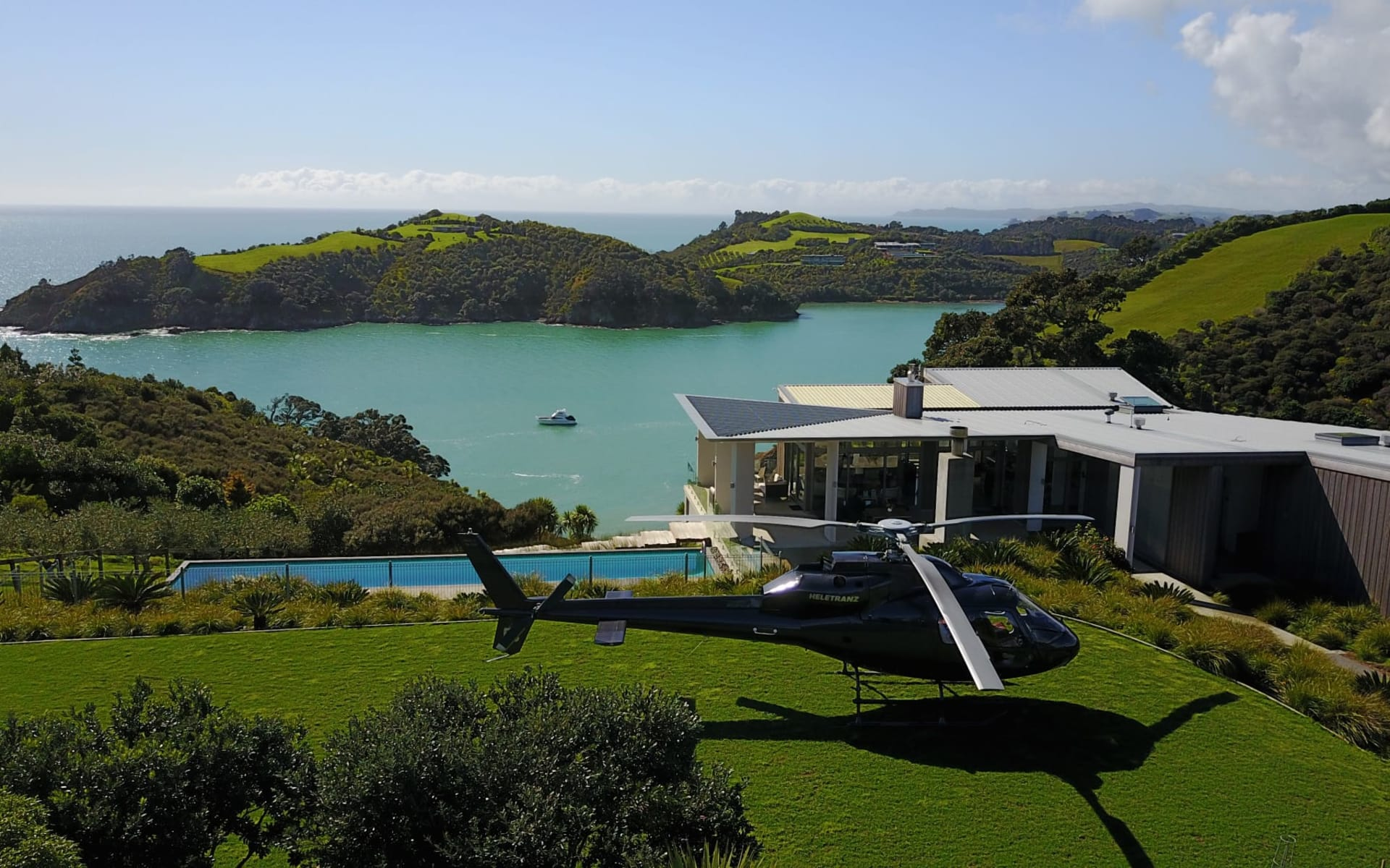 Marino Ridge in Waiheke Island:  Exterior Marino Ridge - Heletranz on Marino Ridge Helipad