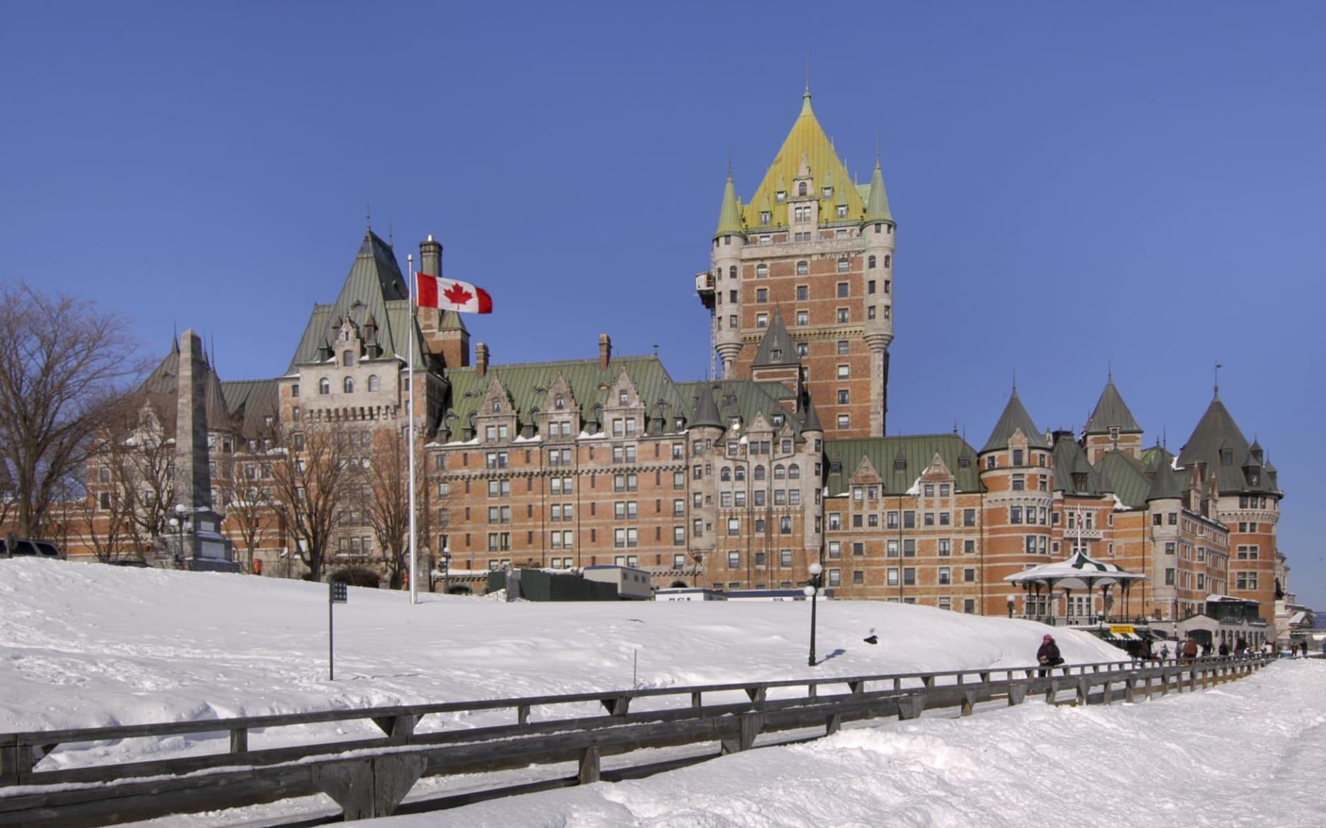 The Fairmont Le Château Frontenac in Québec City: exterior_Fairmont Le Château Frontenac_Winter