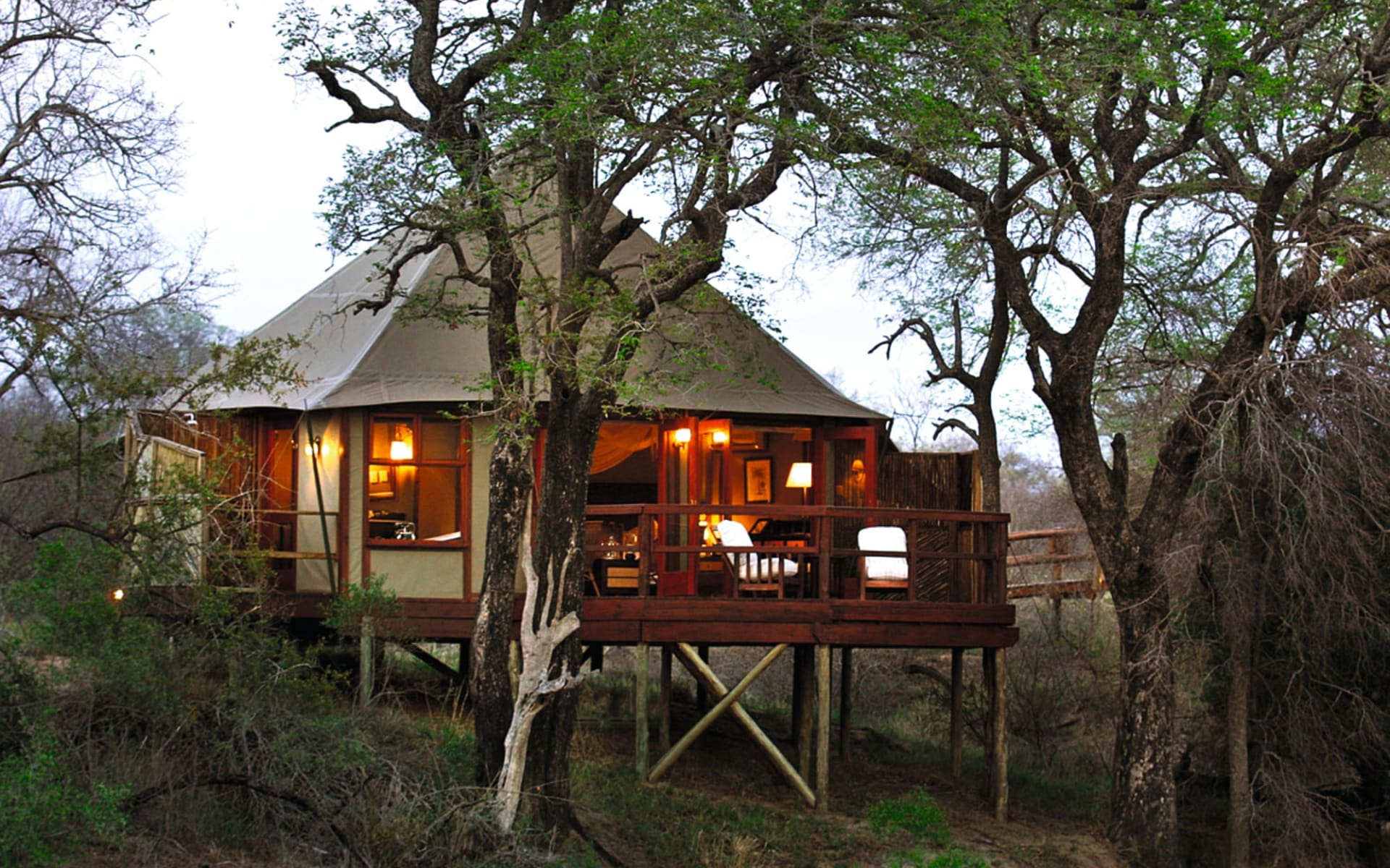 Hamiltons Tented Camp in Krüger Nationalpark: exterior Hamiltons Tented Camp Sicht auf Safari Zelt