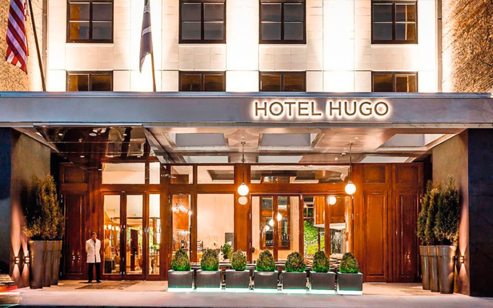 Hotel Hugo Soho in New York - Manhattan:  Hotel Hugo New York - Eingang