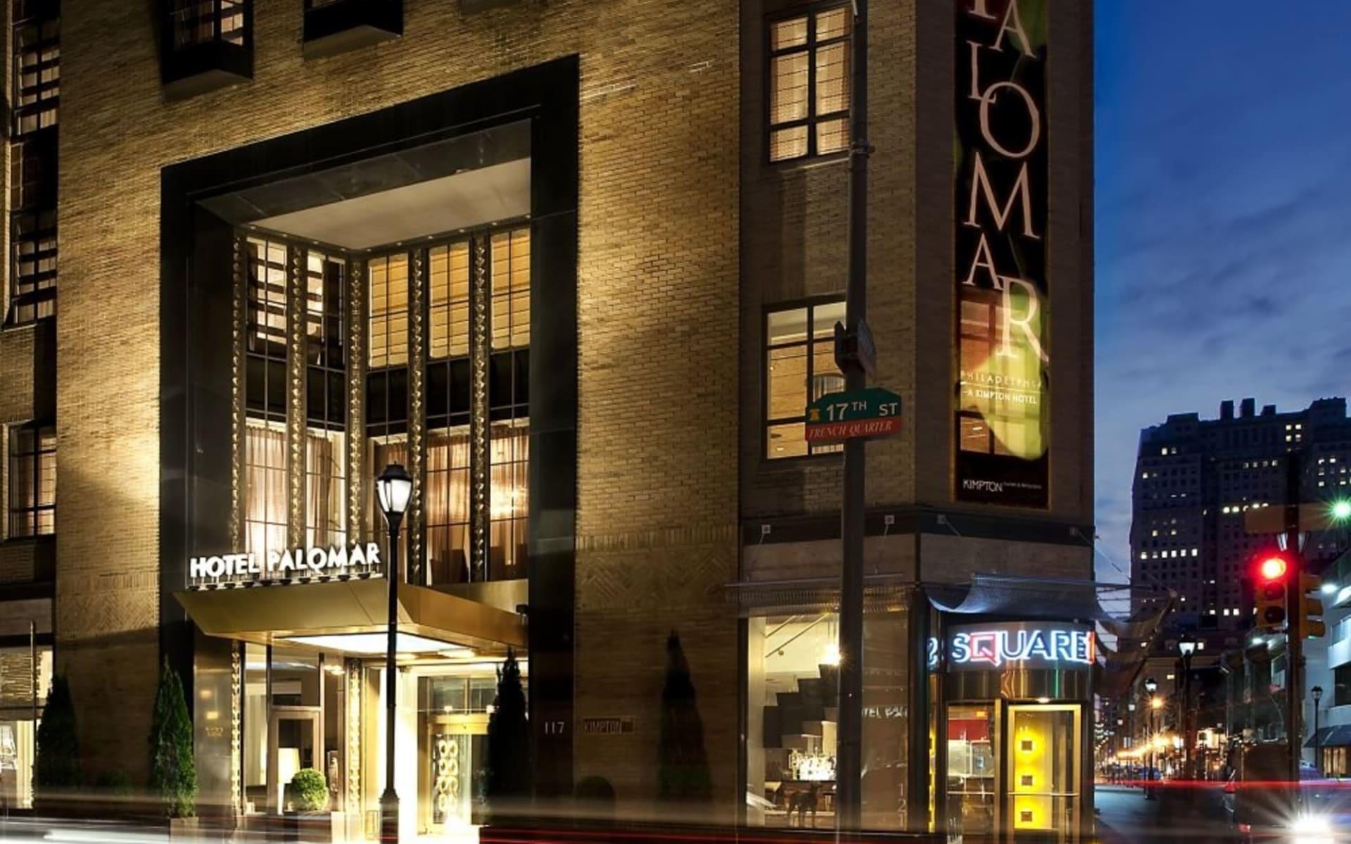 Hotel Palomar Philadelphia: Exterior_Hotel Palomar PHL_Aussenansicht bei Nacht_Bonotel