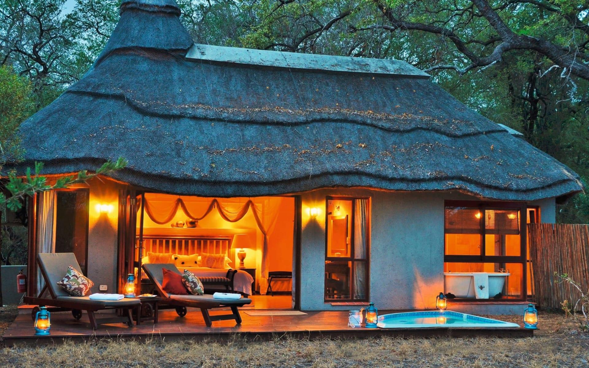Imbali Safari Lodge in Krüger Nationalpark:  Imbali Safar lodge- zimmer mit privatem Planschpool