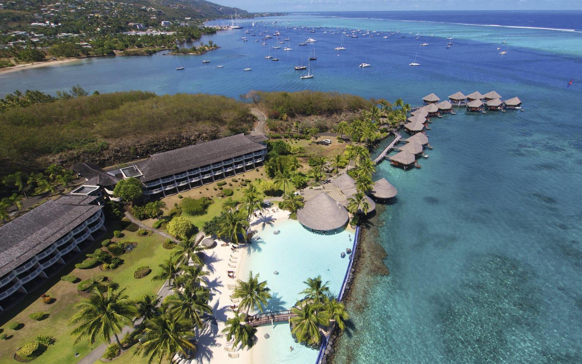 InterContinental Tahiti Resort in Papeete - Faa'a:  Intercontinental Tahiti Resort - Aerial View über das Resort 2017