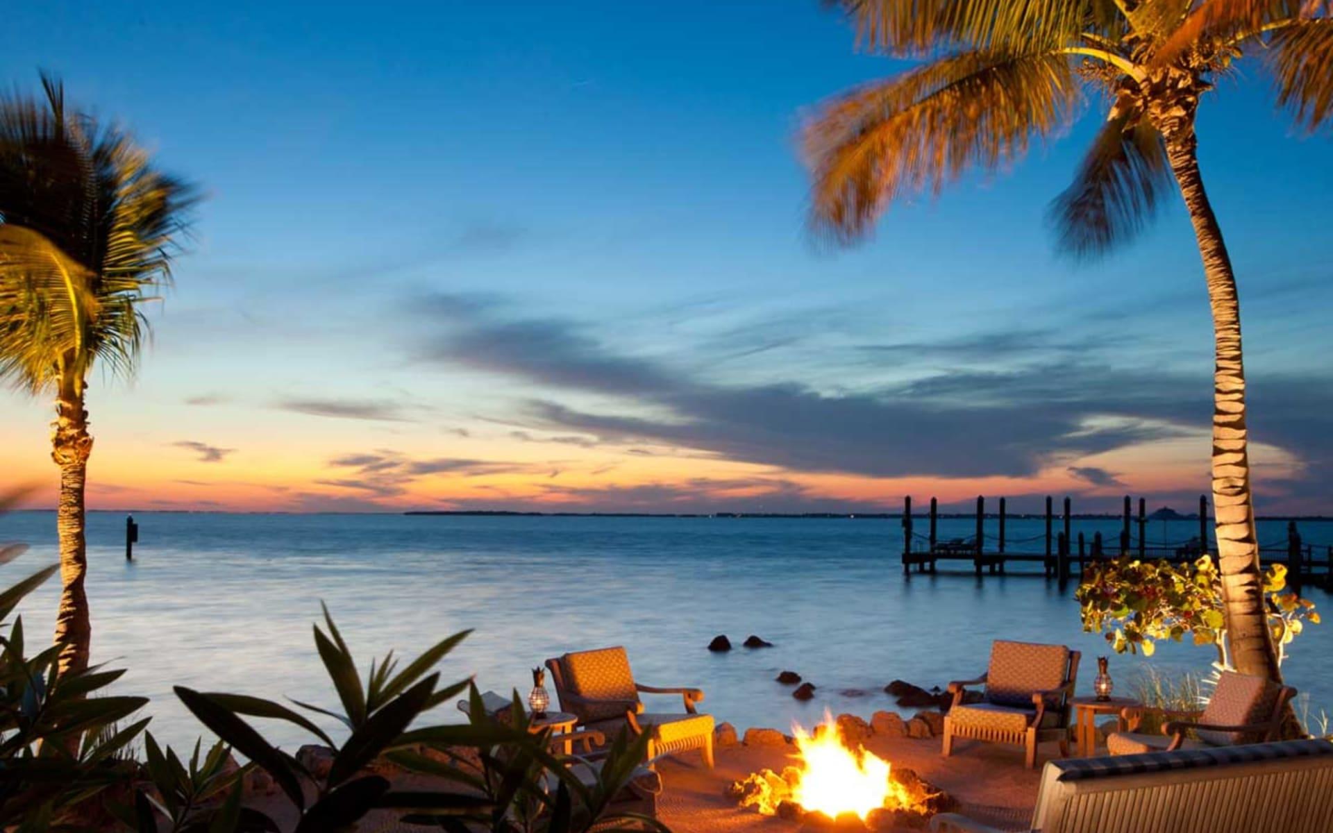 Little Palm Island Resort & Spa in Little Torch Key:  Little Palm Island-Firepit-horz