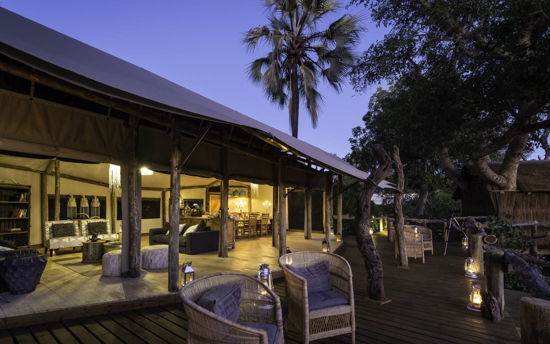 Little Tubu Camp in Okavango Delta:  Little Tubu Camp