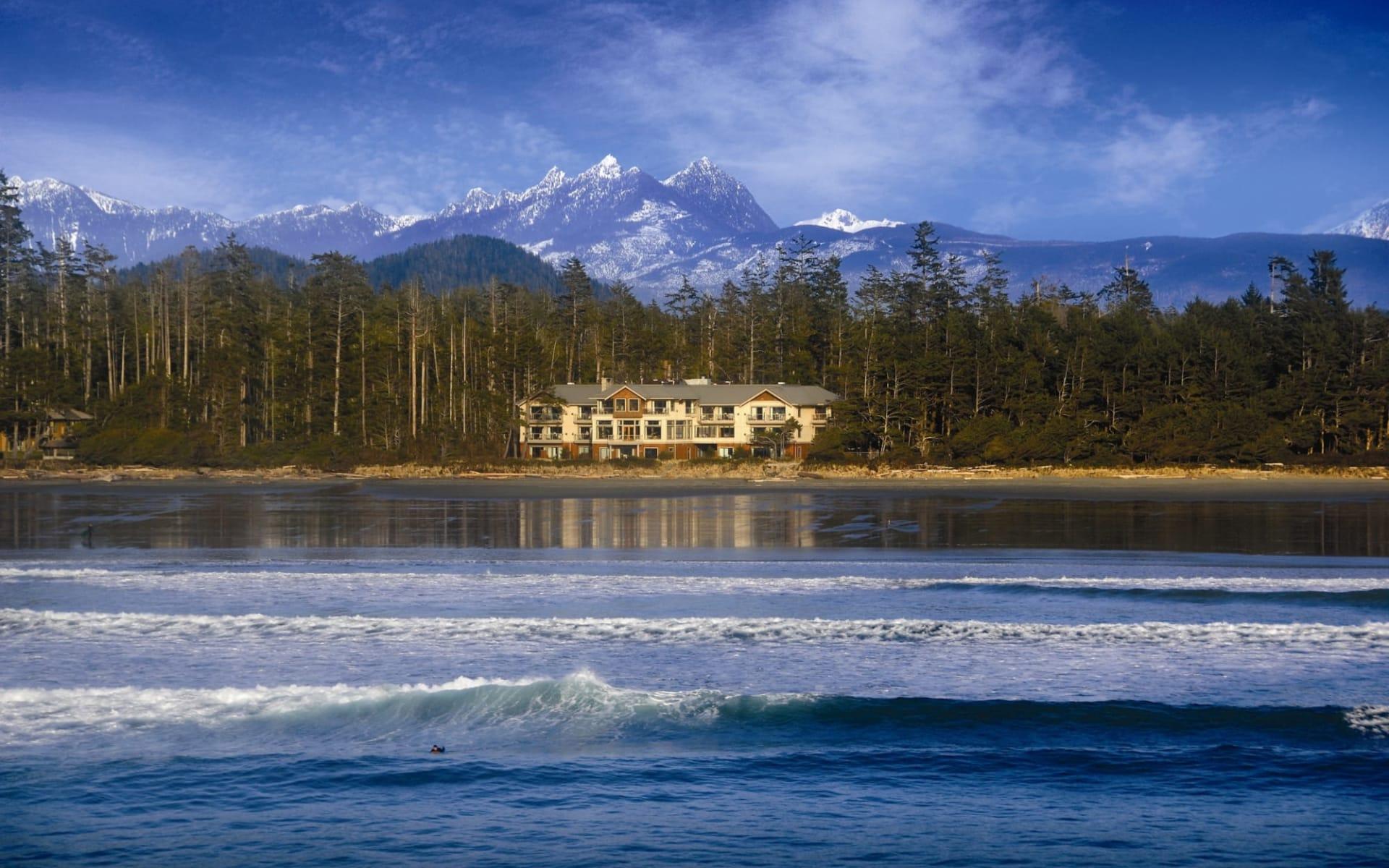 Long Beach Lodge Resort in Tofino:  Long Beach Lodge Resort_ViewFromOcean