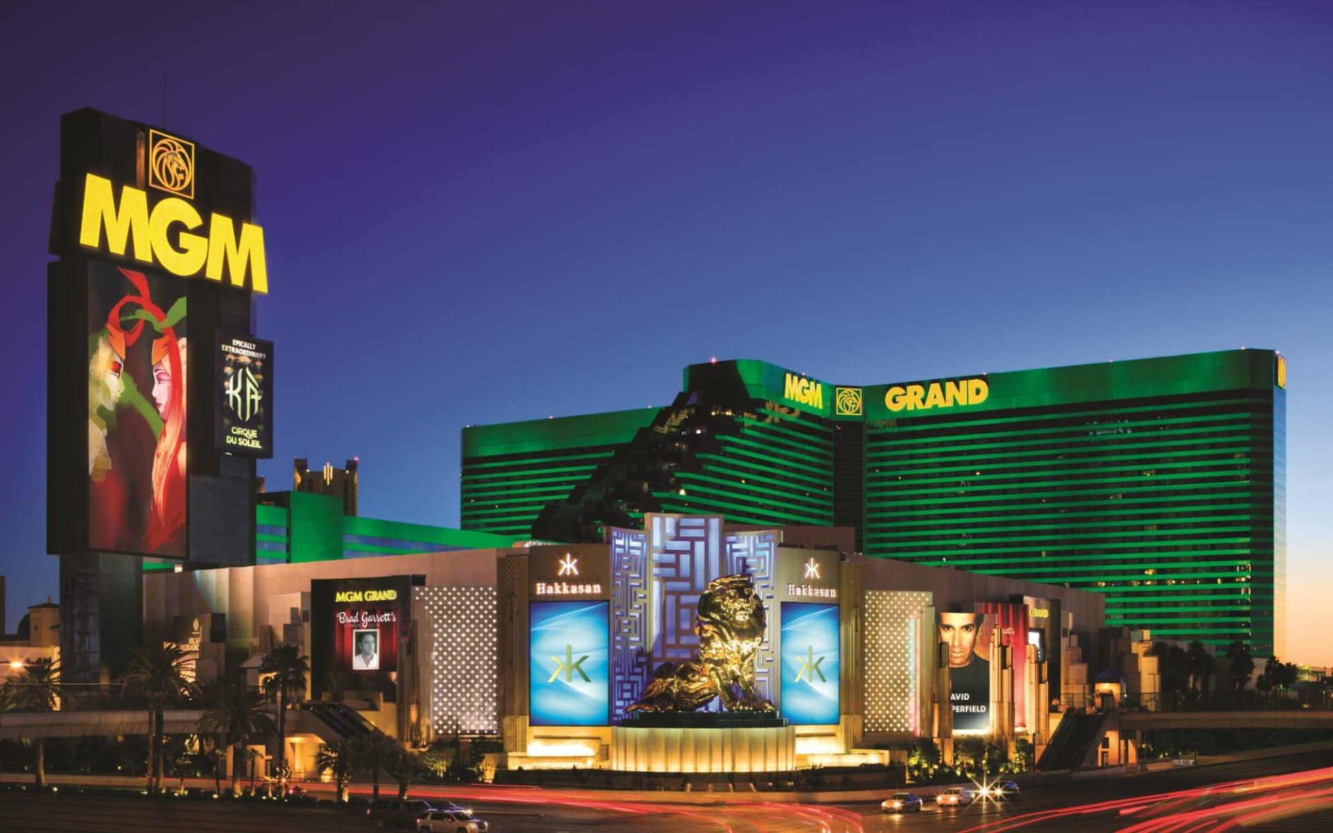 MGM Grand Hotel in Las Vegas:  MGM Grand - Aussenansicht