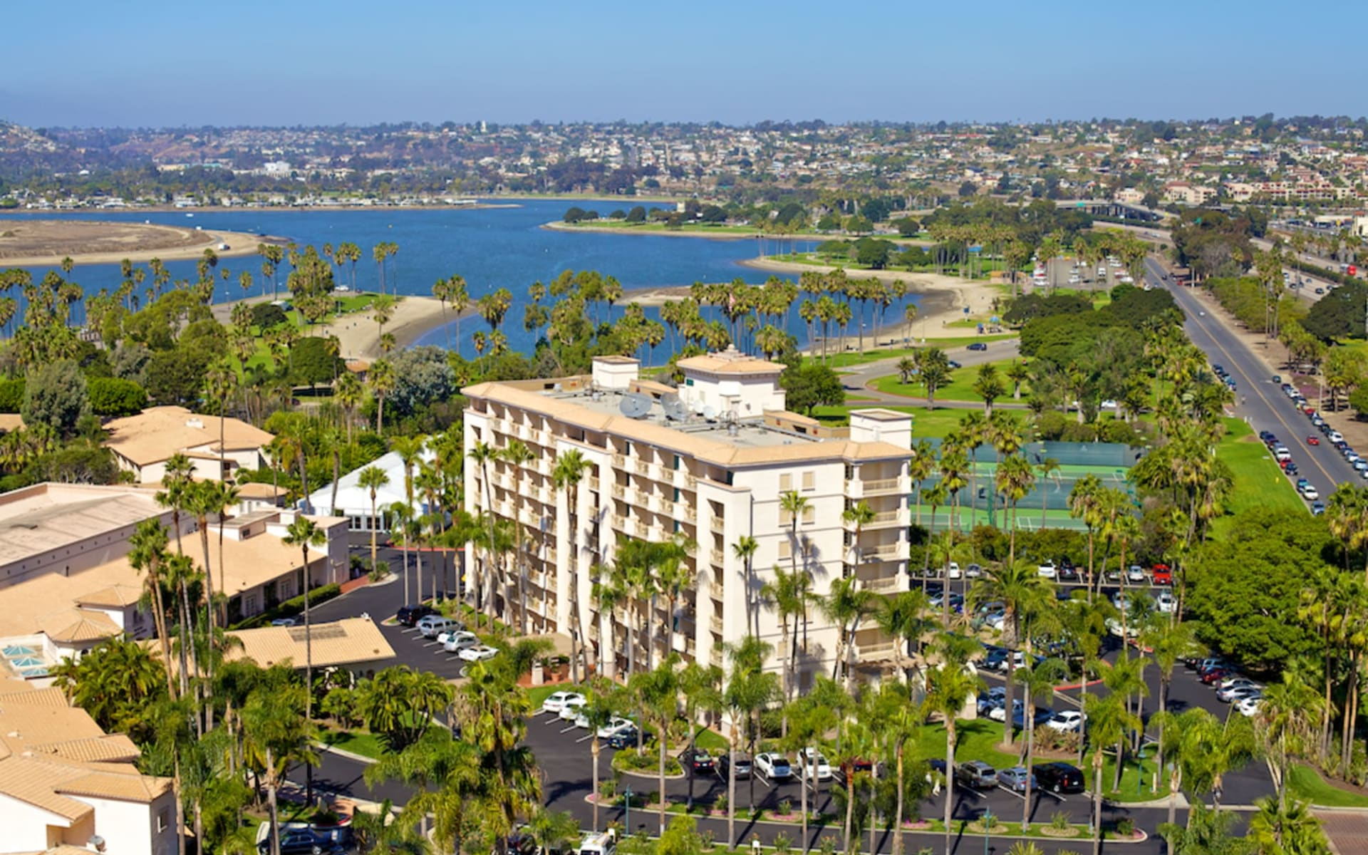 Mission Bay Resort in San Diego:  Mission Bay Resort - Aussenansciht