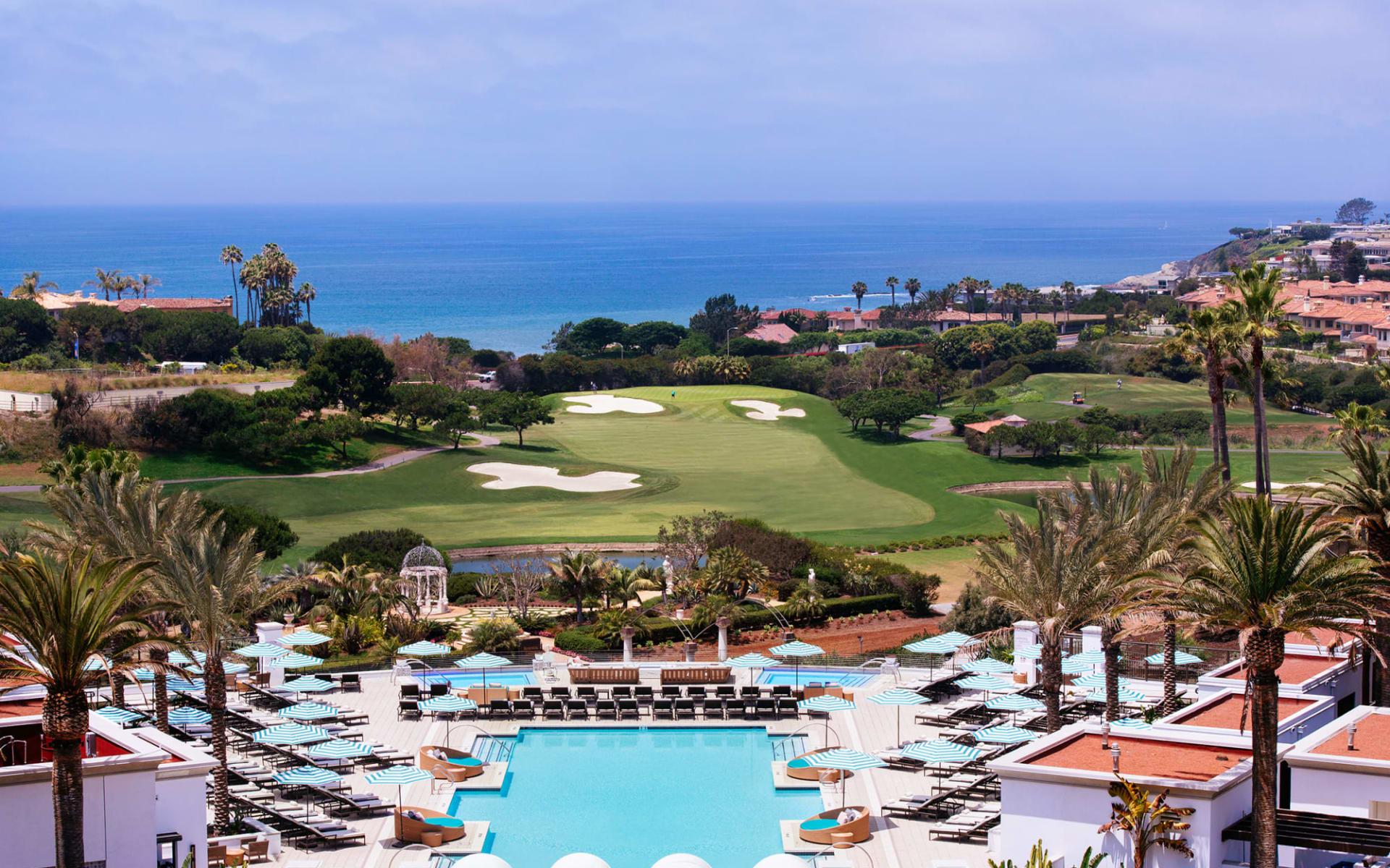 Monarch Beach Resort in Dana Point:  Monarch Pool view