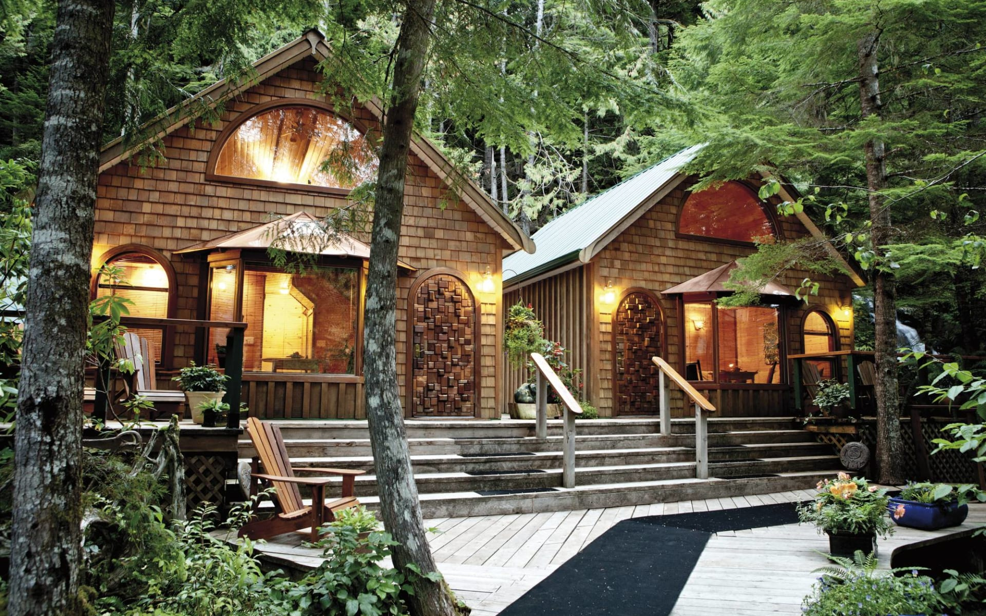 Nimmo Bay Resort in Port McNeill: Nimmo Bay Wilderness Resort - Forestview Cabins c Jeremy