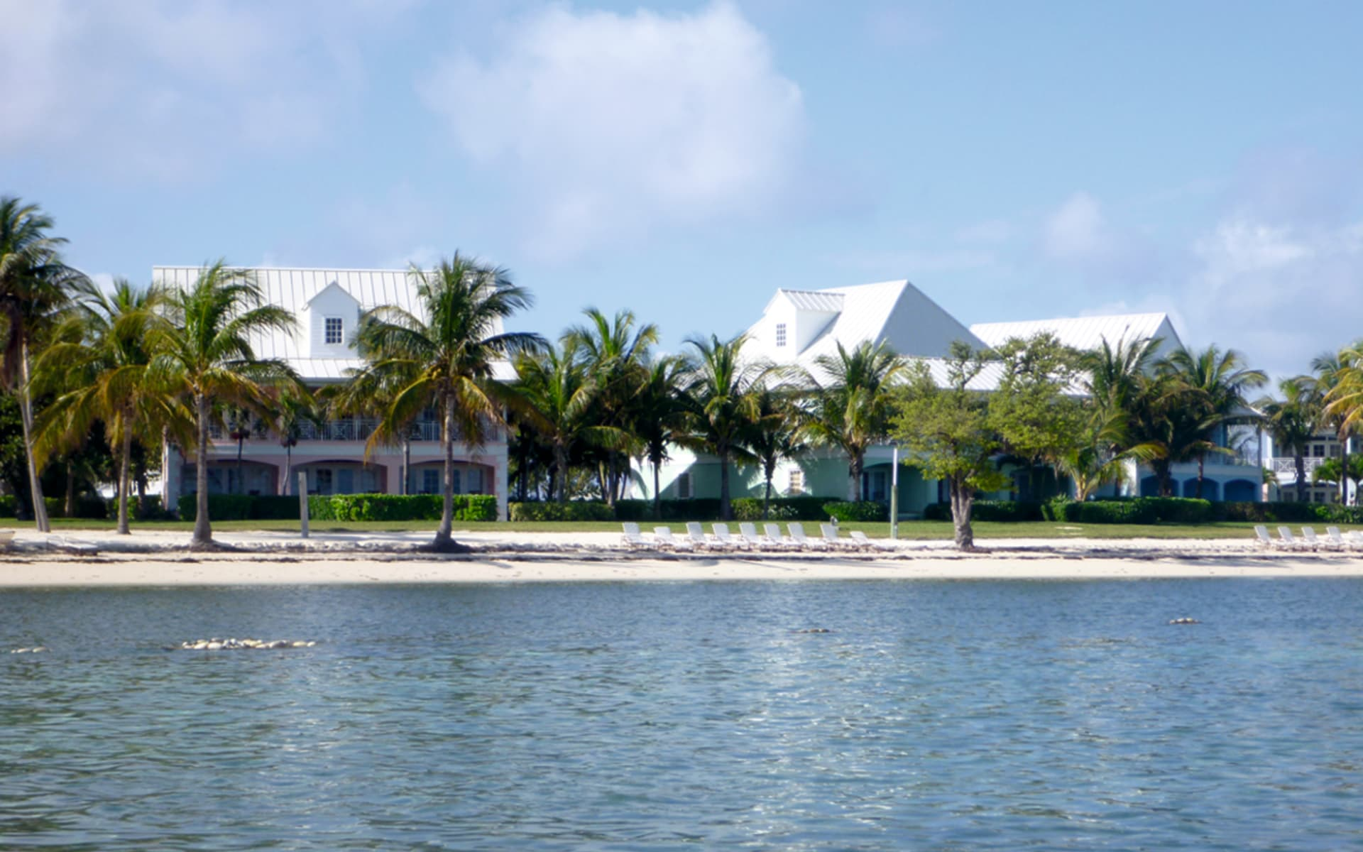 Old Bahama Bay in West End: exterior old bahama bay hotelansicht palmen meer