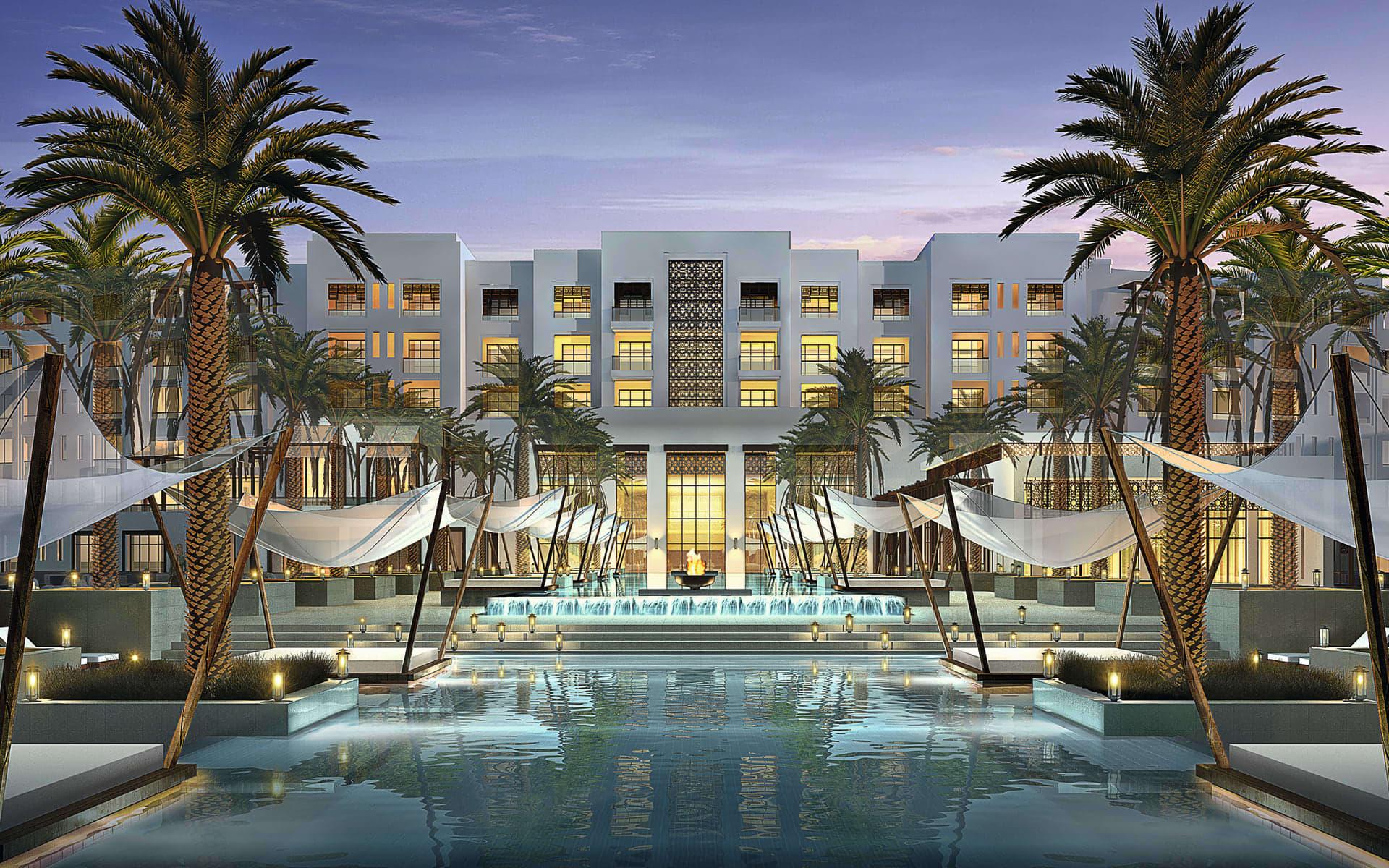 Park Hyatt Abu Dhabi Hotel & Villas: Park Hyatt Hotel & Villas - Aussenansicht über Poolanlage