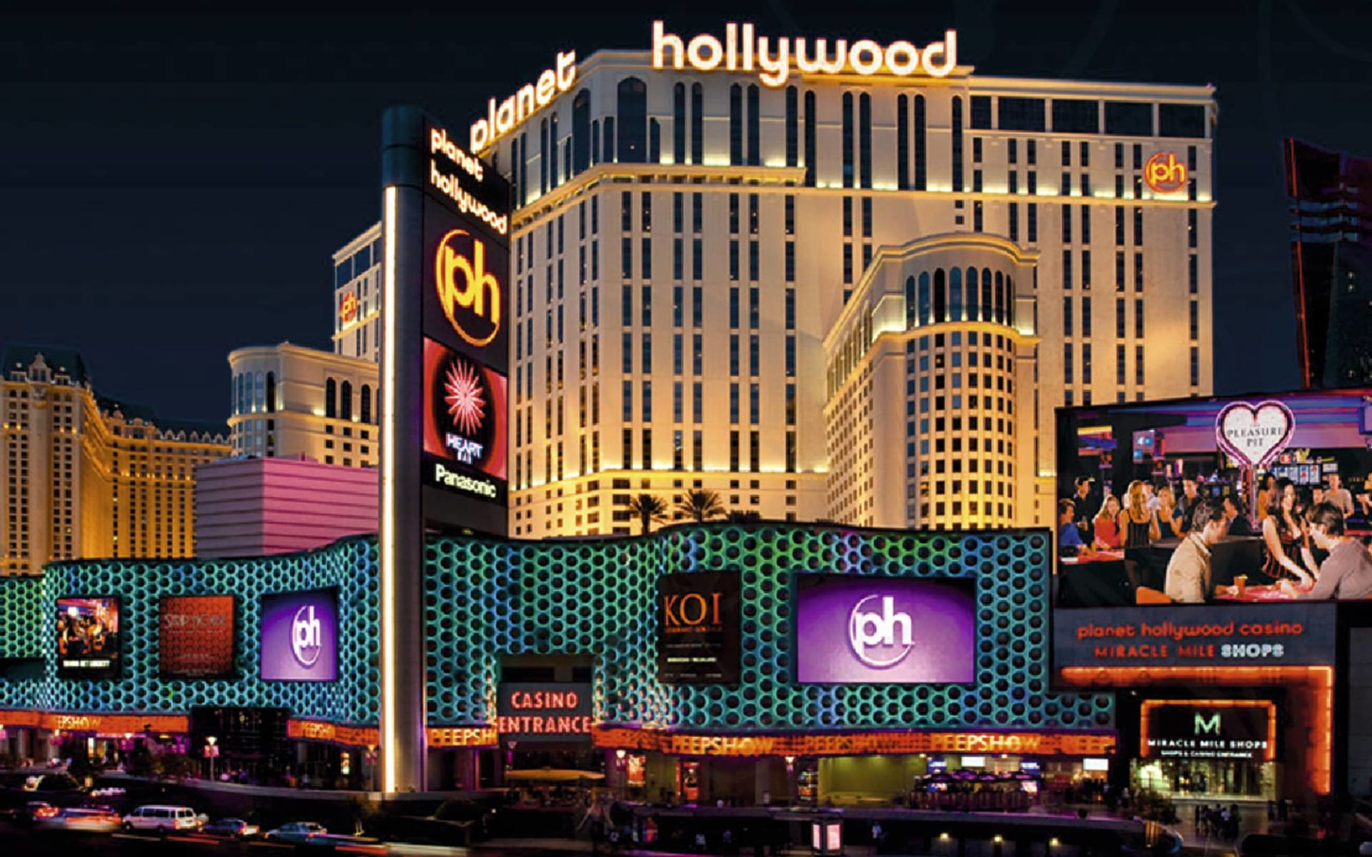 Planet Hollywood Resort & Casino in Las Vegas:  Planet Hollywood - Hotelansicht