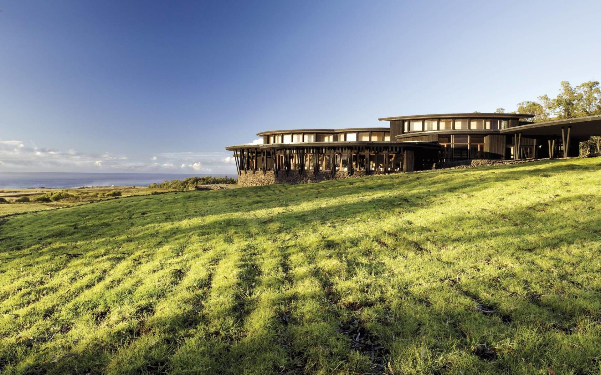 explora Rapa Nui ab Hanga Roa: exterior: Posada de Mike Rapu - Sicht auf das Hotel