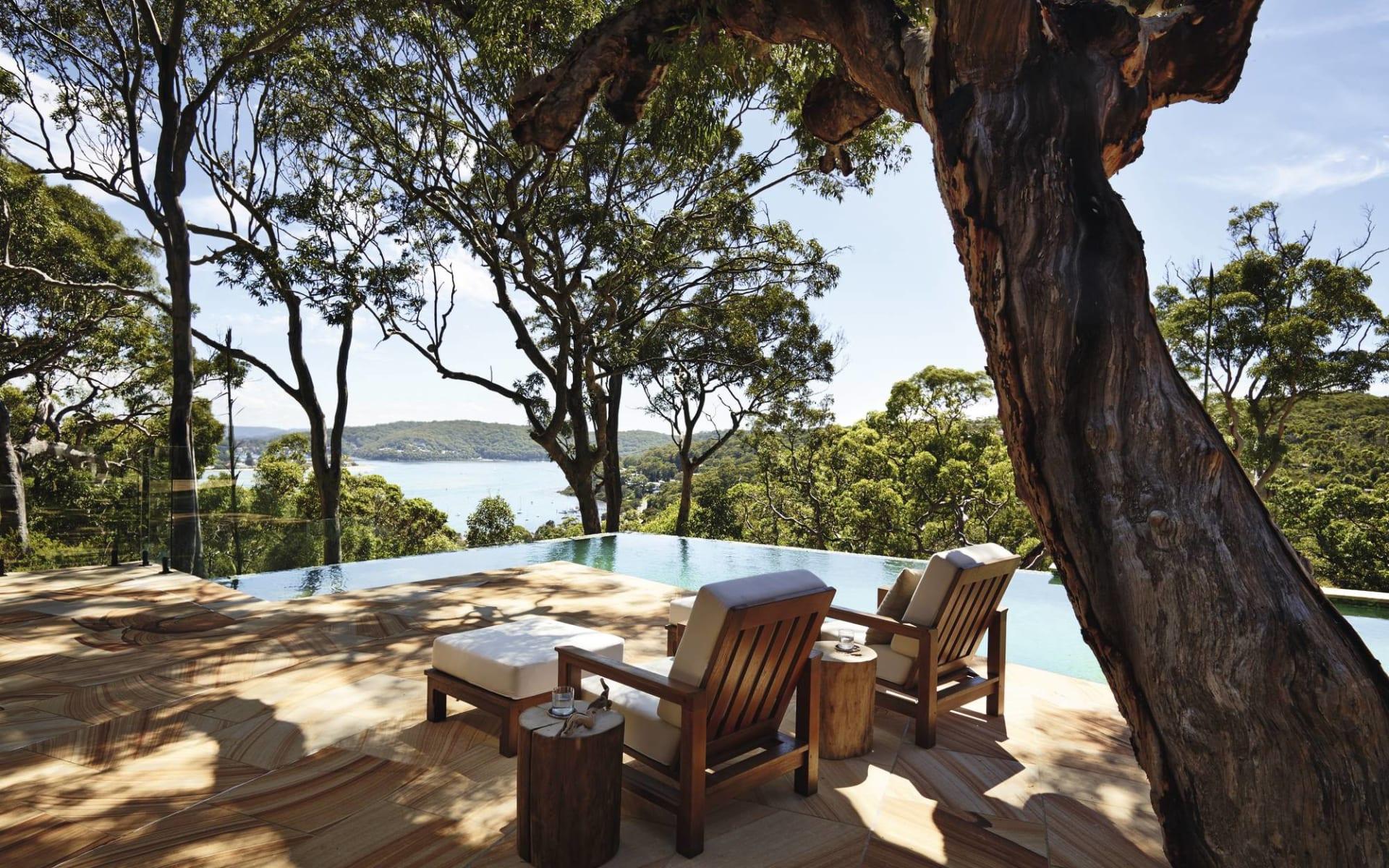 Pretty Beach House: Exterior Pretty Beach House NSW Australien  Blick auf die Bucht mit Swimmingpool 2017
