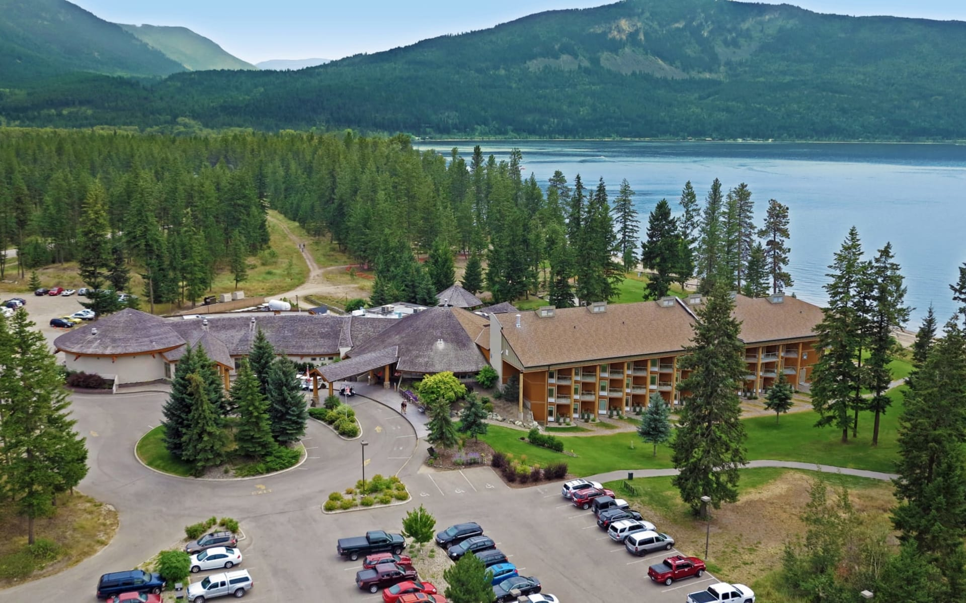 Quaaout Lodge in Chase:  Quaaout Lodge_AerialView