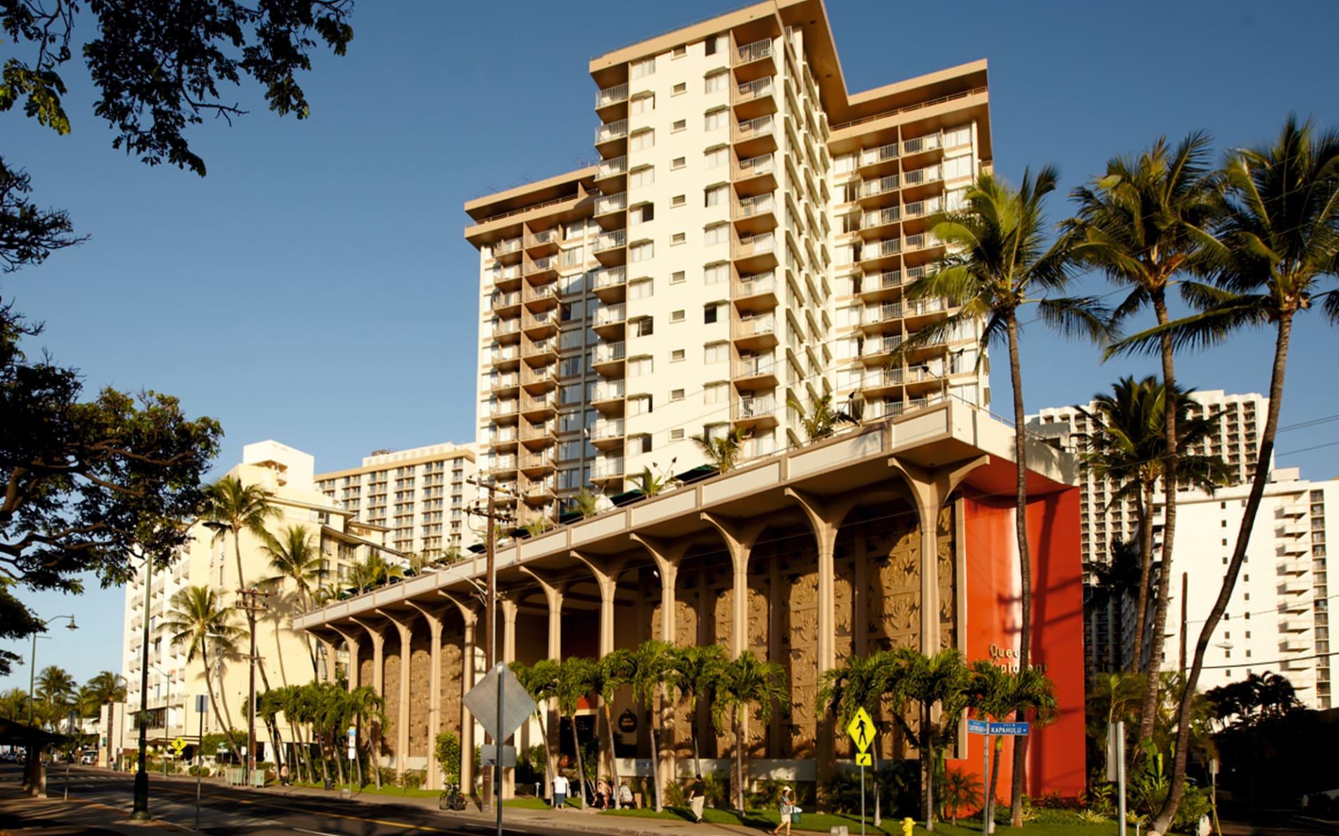 Queen Kapiolani Hotel in Honolulu - Oahu:  Queen Kapiolani Hotel - Aussenansicht
