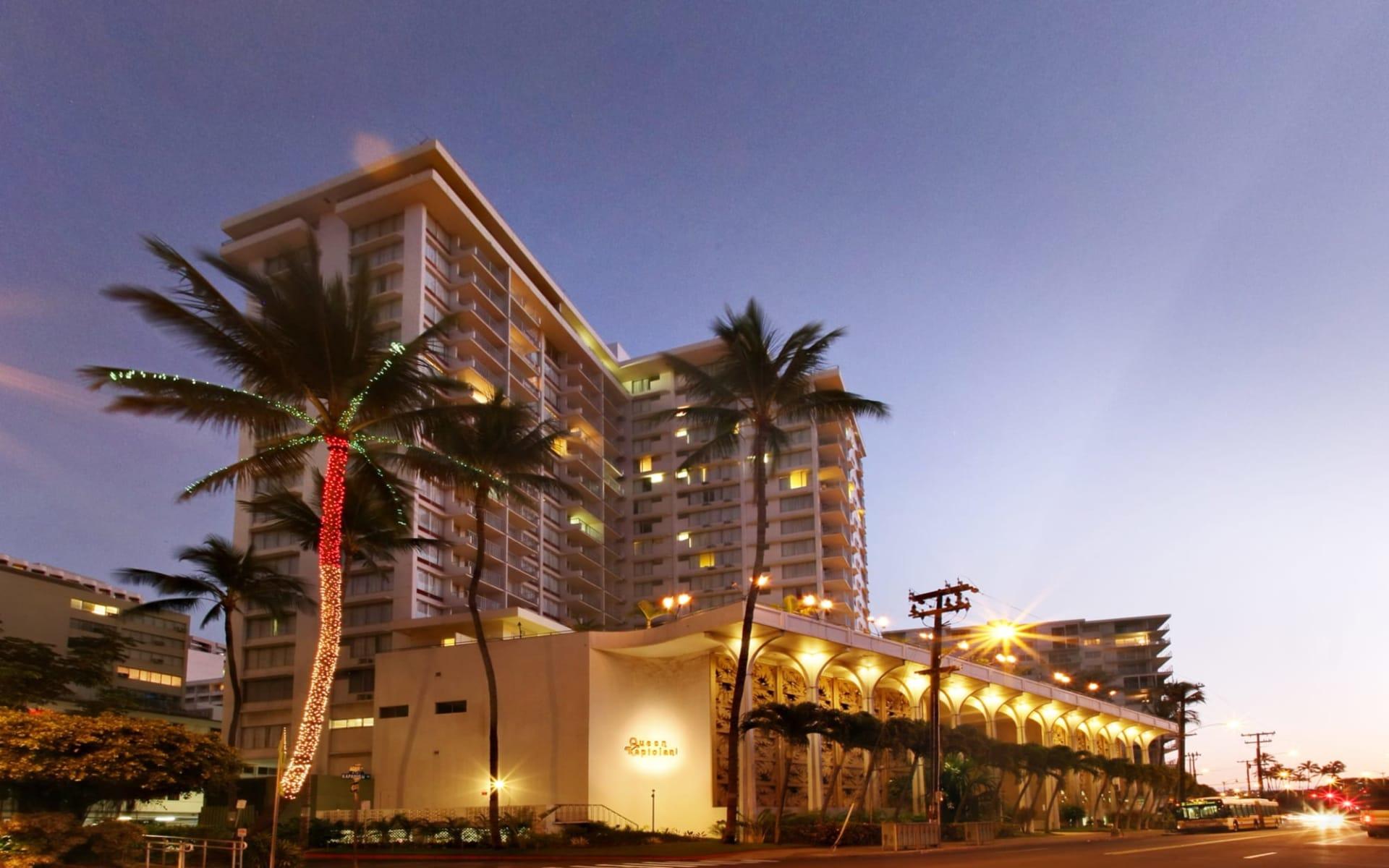 Queen Kapiolani Hotel in Honolulu - Oahu:  Queen Kapiolani Hotel_Aussenansicht