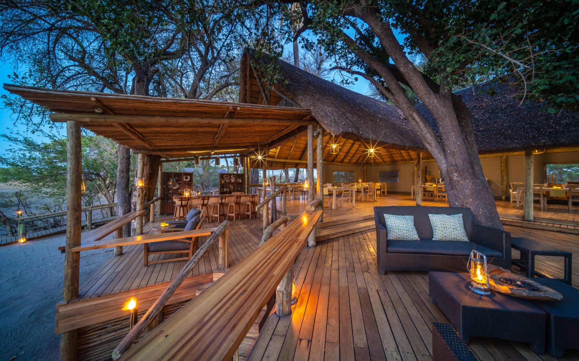 Seba Camp in Okavango Delta:  Seba Camp-lounge