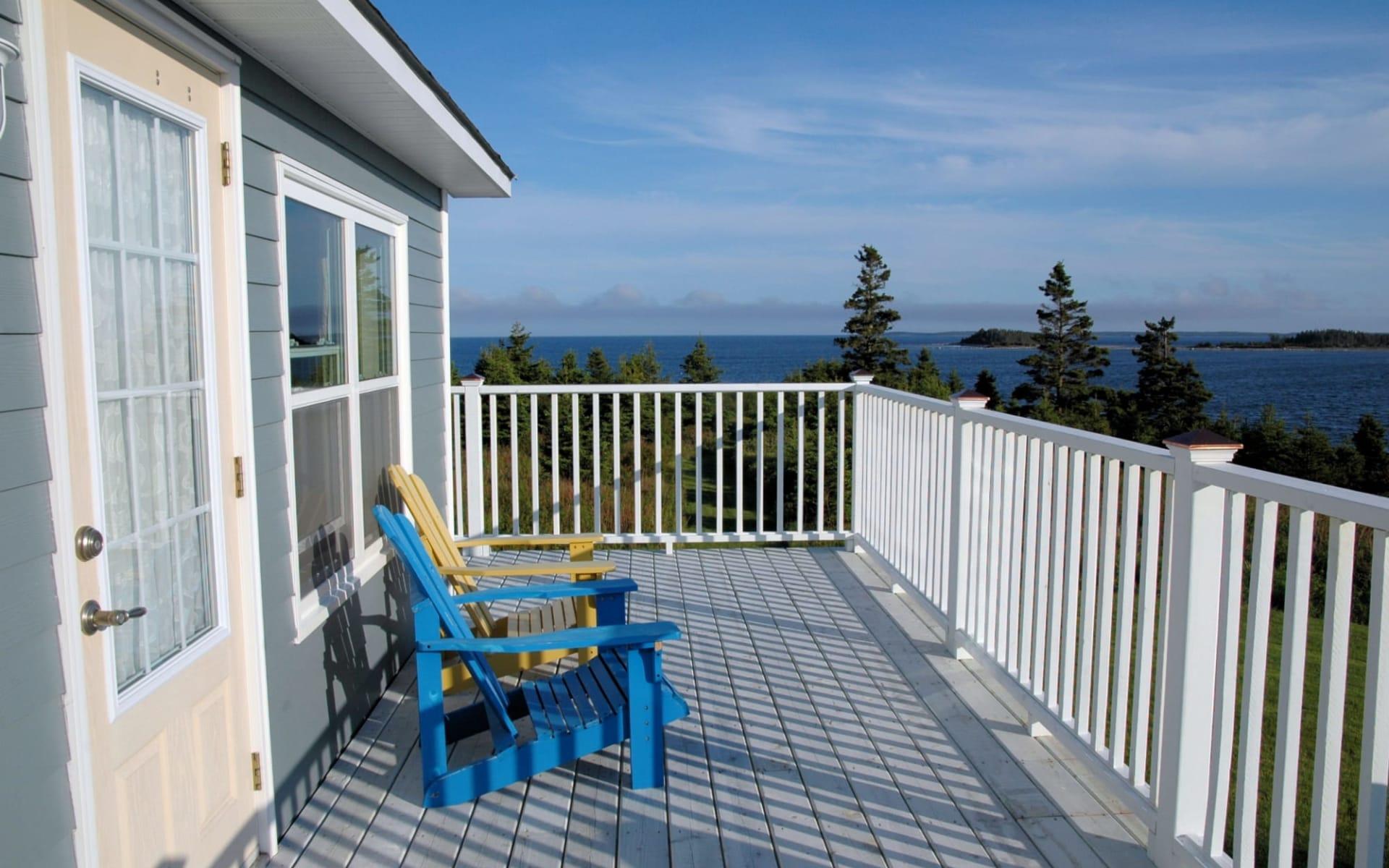 Seawind Landing Country Inn in Charlos Cove:  Sewawind Landing Country Inn_Deck