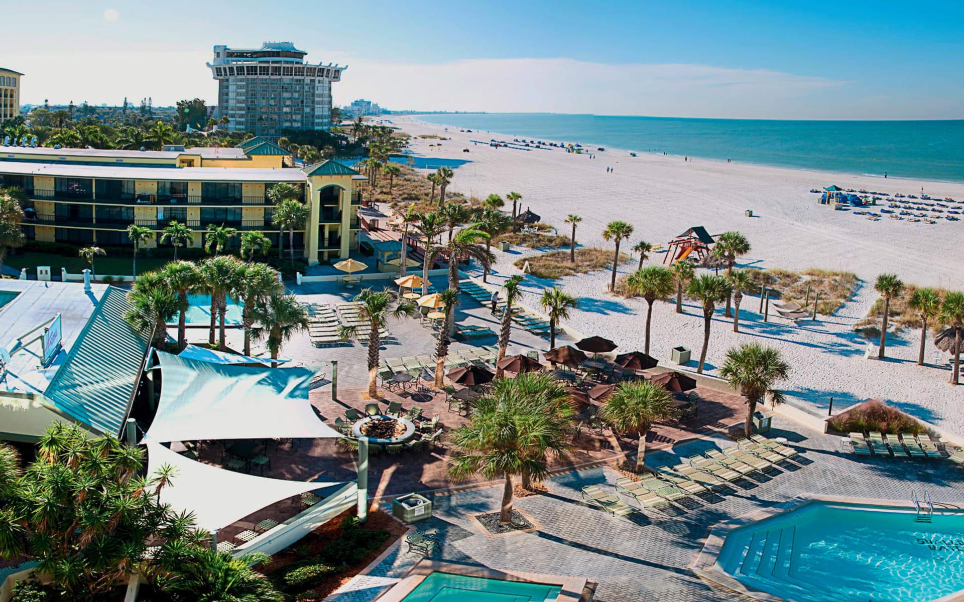 Sirata Beach Resort & Conference Center in St. Pete Beach: exterior sirate beach resort und conference center beach hotelanlage strand meer