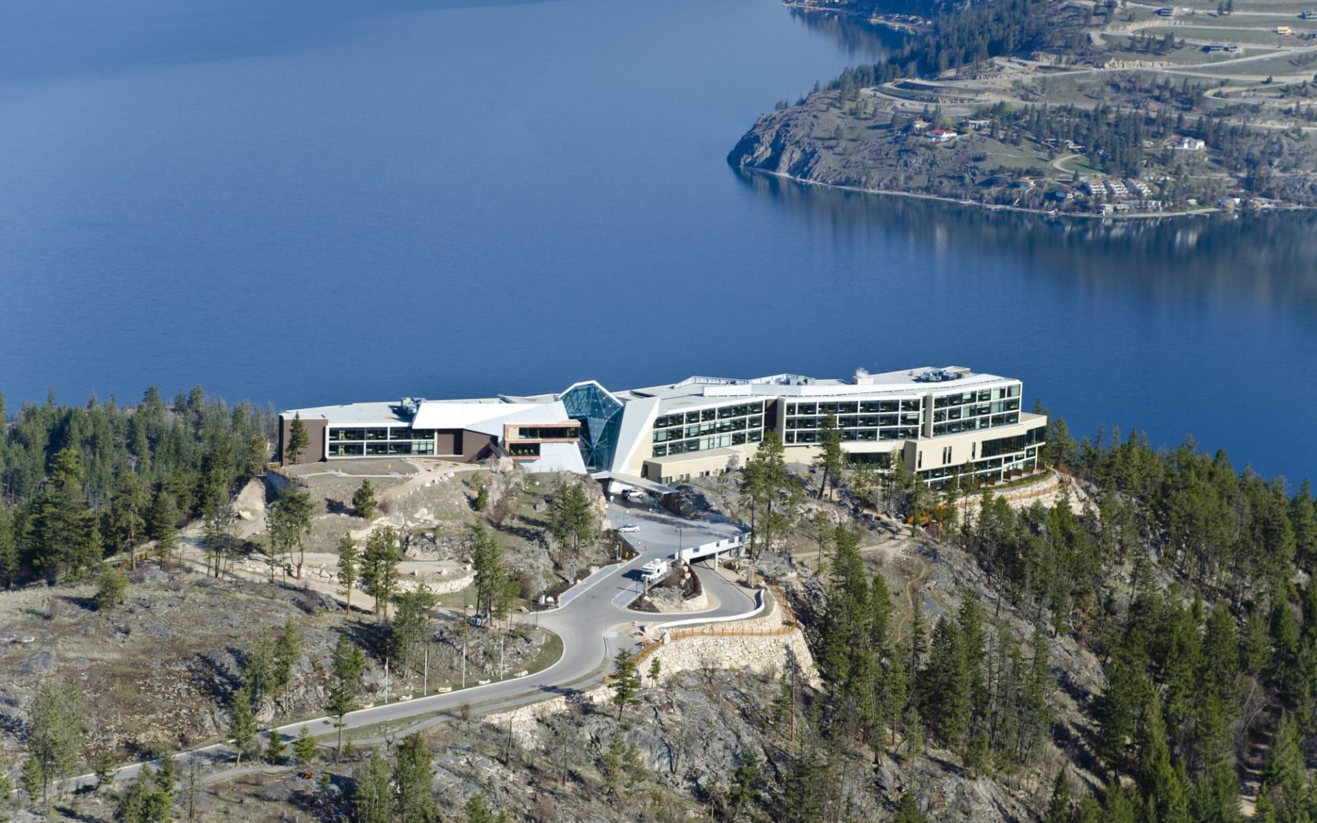 Sparkling Hill Wellness- & Spa Resort in Vernon:  Sparkling Hill Wellness & Spa Resort_AerialLakeView