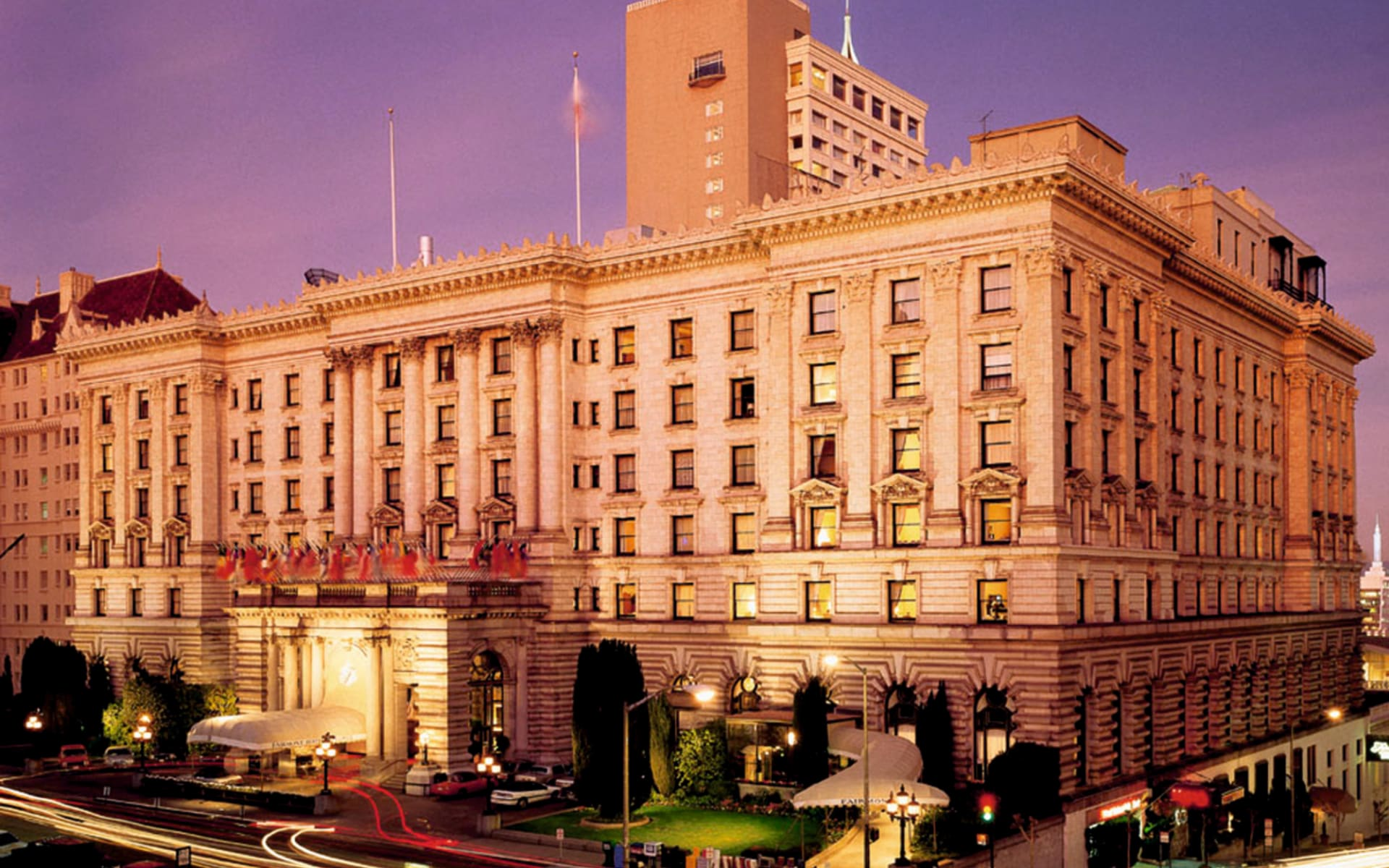 The Fairmont San Francisco Hotel: exterior the fairmont san francisco hotel hotelansicht strasse