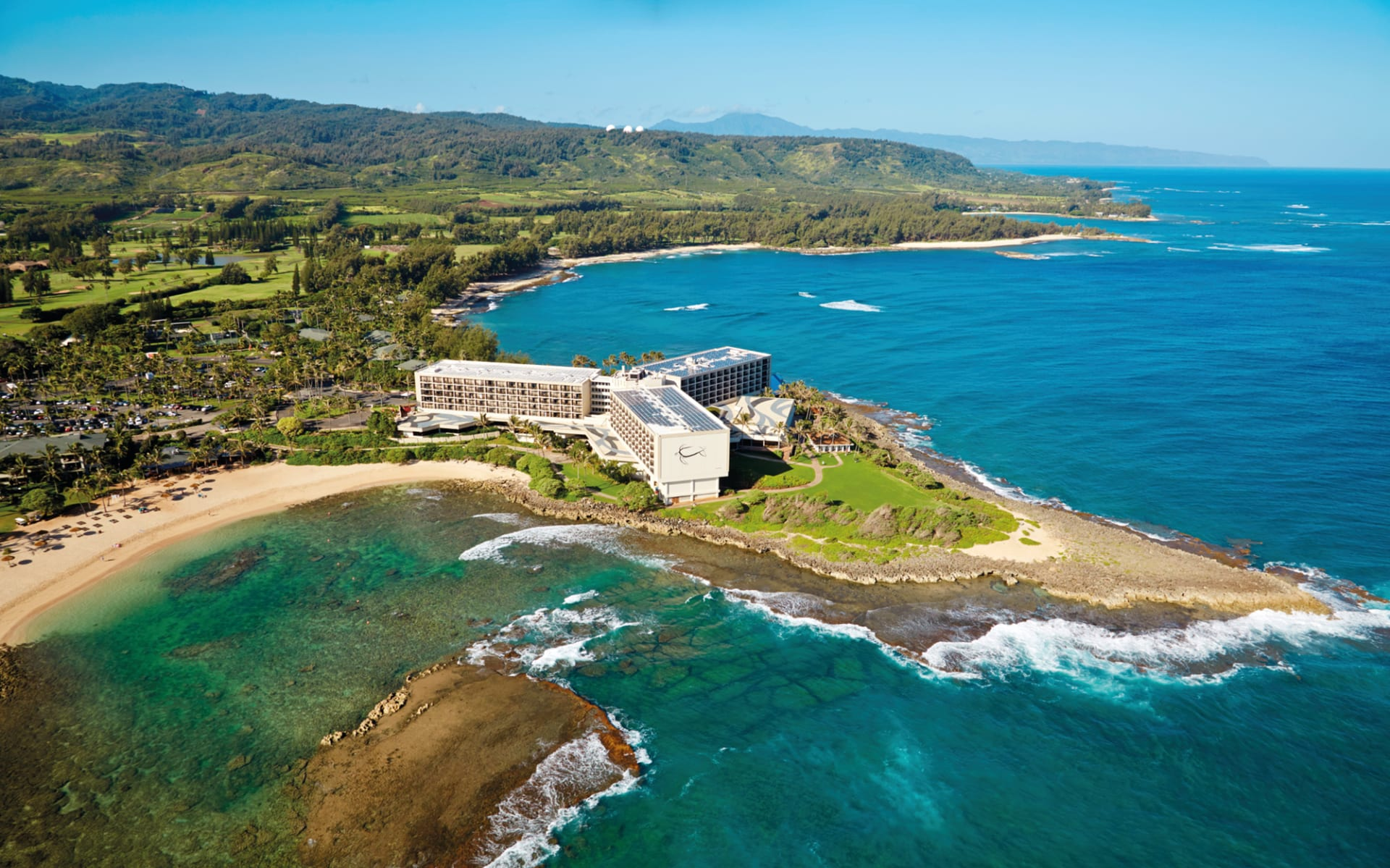 Turtle Bay Resort in Kahuku - Oahu: Turtle Bay Resort - Luftaufnahme