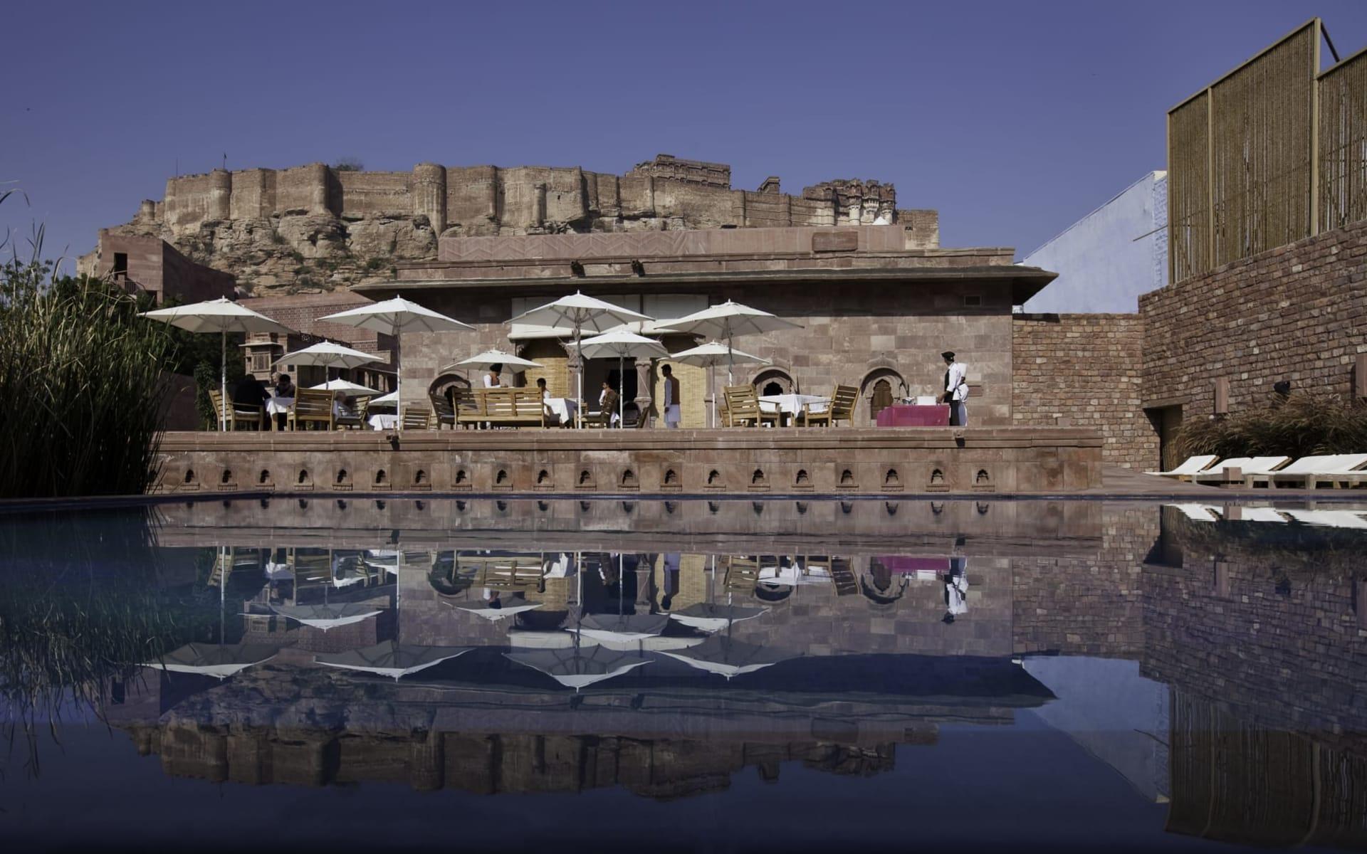 RAAS in Jodhpur: Baradari Restaurant View
