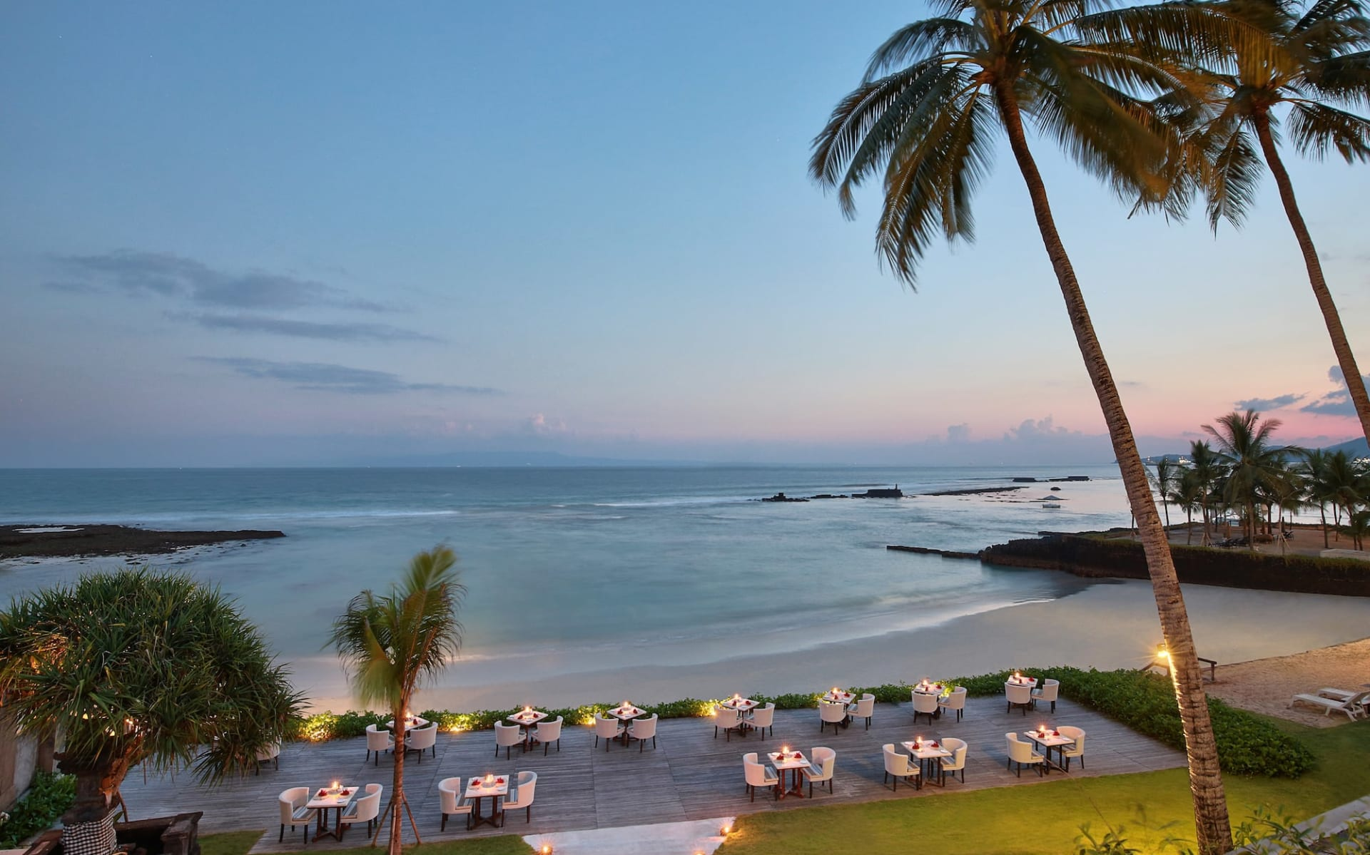 Candi Beach Resort & Spa in Ostbali: Biru Restaurant