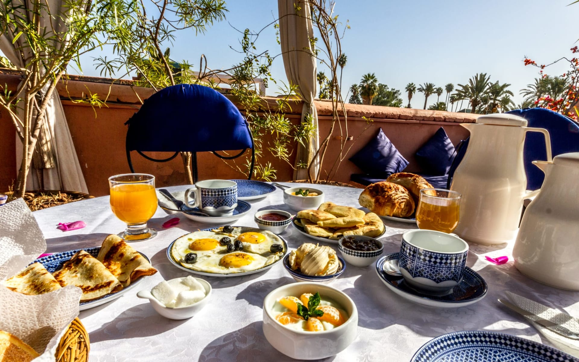 Riad Nora in Marrakesch:  Moroccan Breakfast