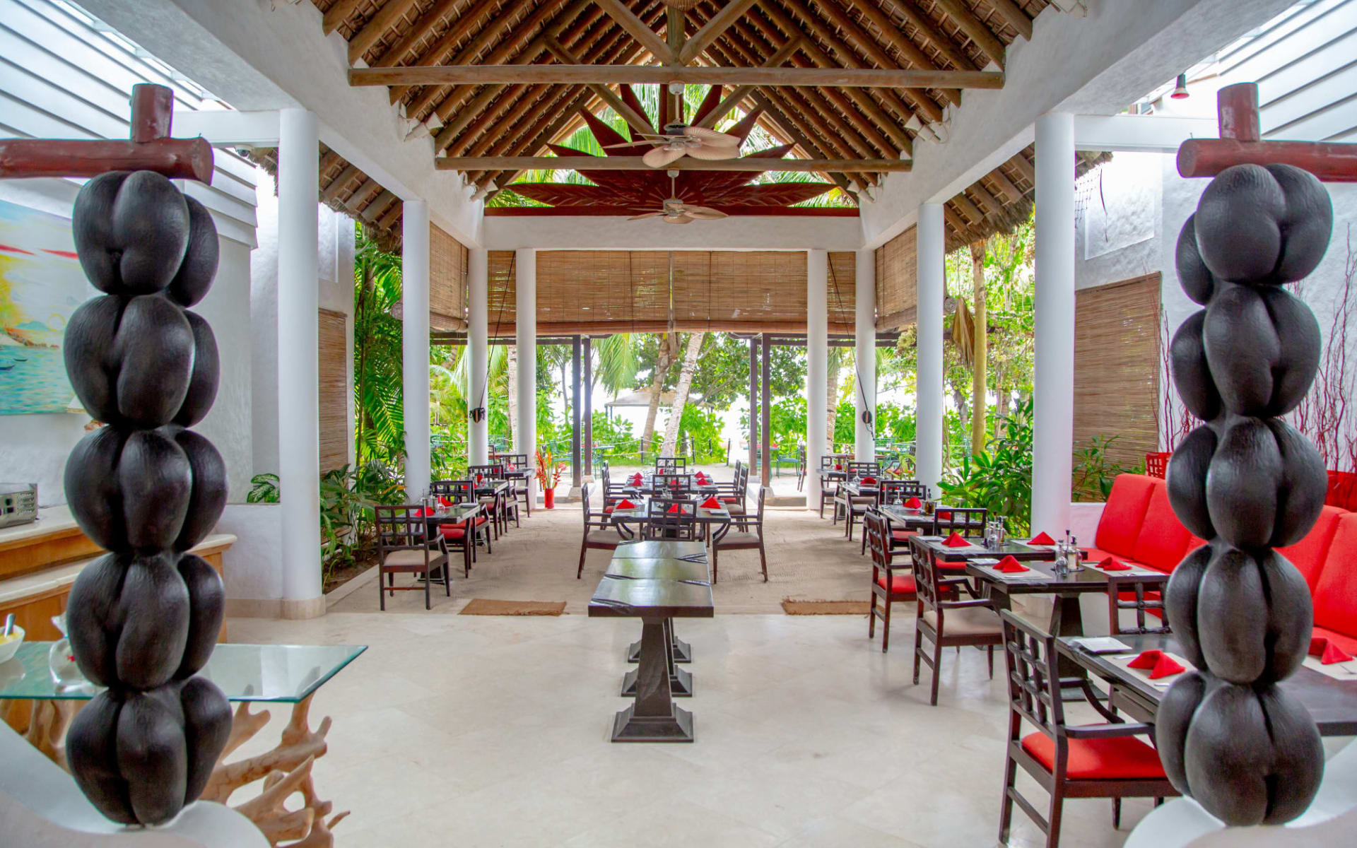 Village du Pêcheur in Praslin:  restaurant