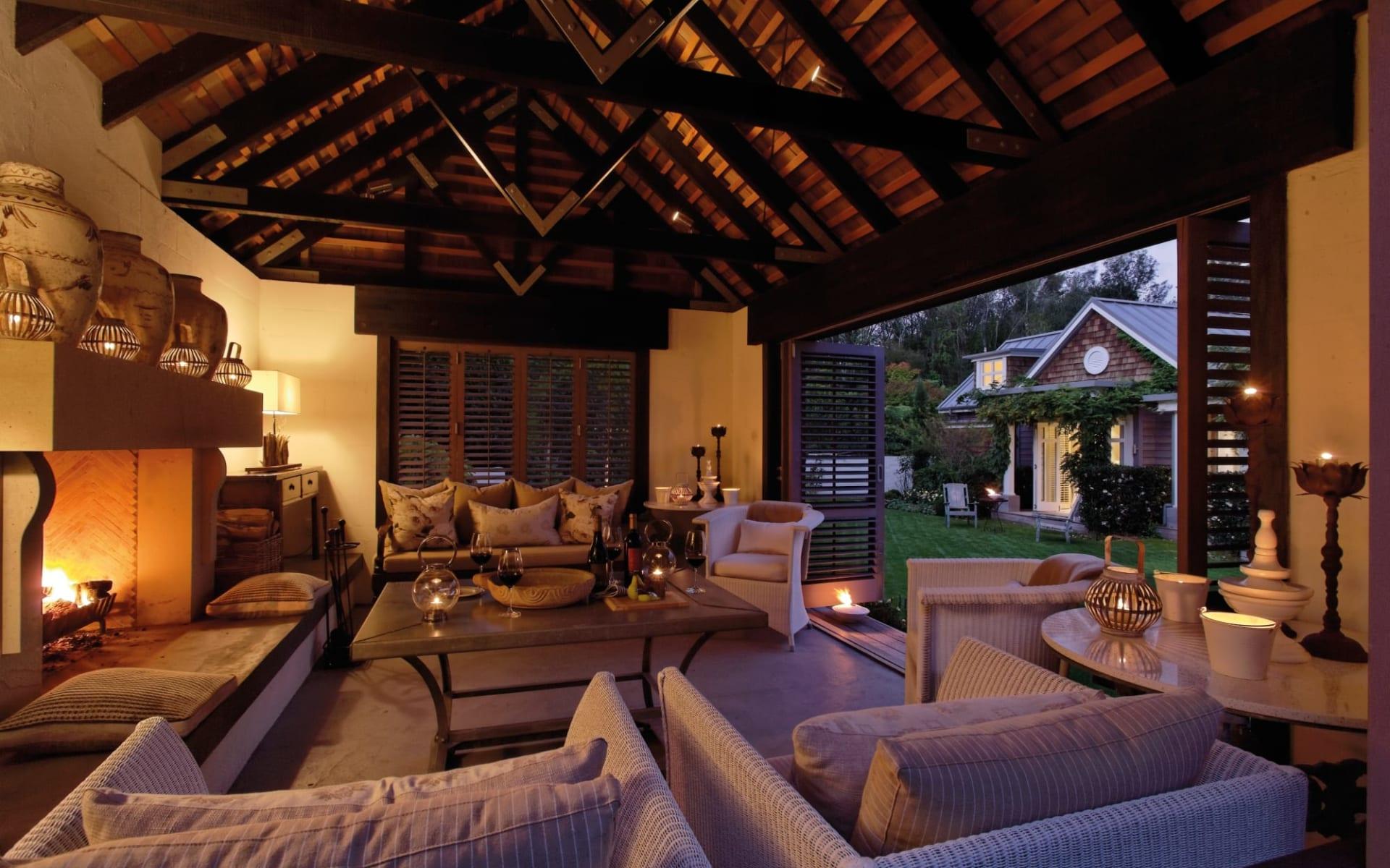 Huka Lodge in Taupo:  Alan Pye Cottage Outdoor Pavilion_84857