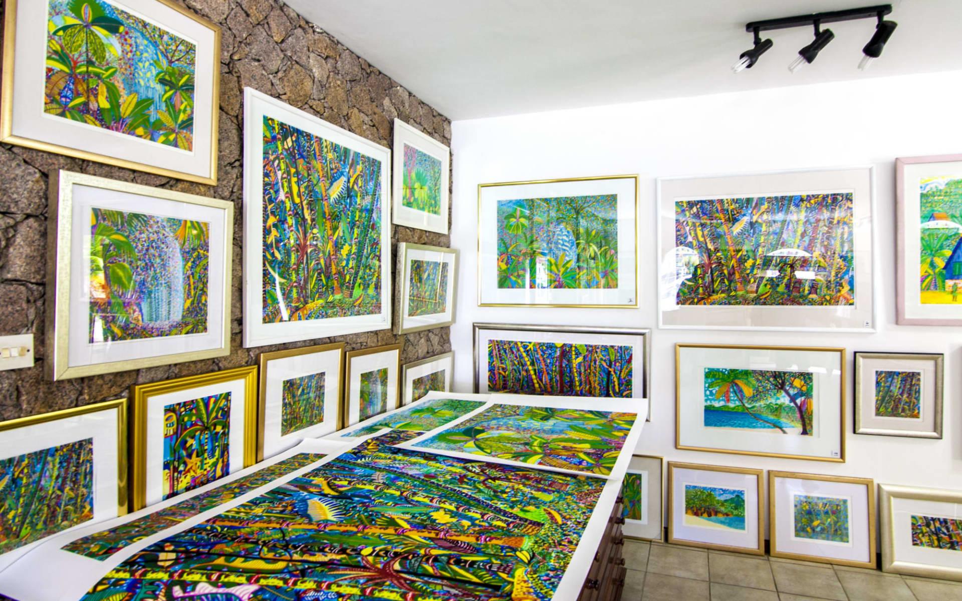Valmer Resort in Mahé:  Art gallery