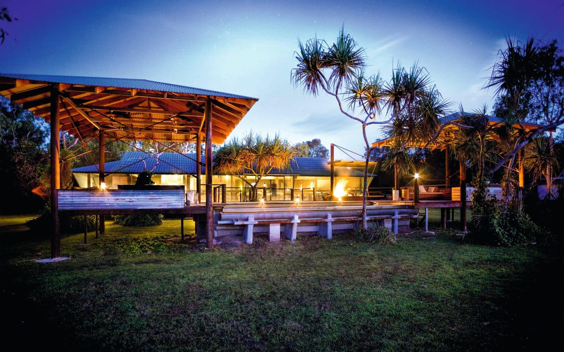 Bamurru Plains in Mary River: Facilities Bamurru Plains Kakadu NP Northern Territory Australien  Lodge von aussen