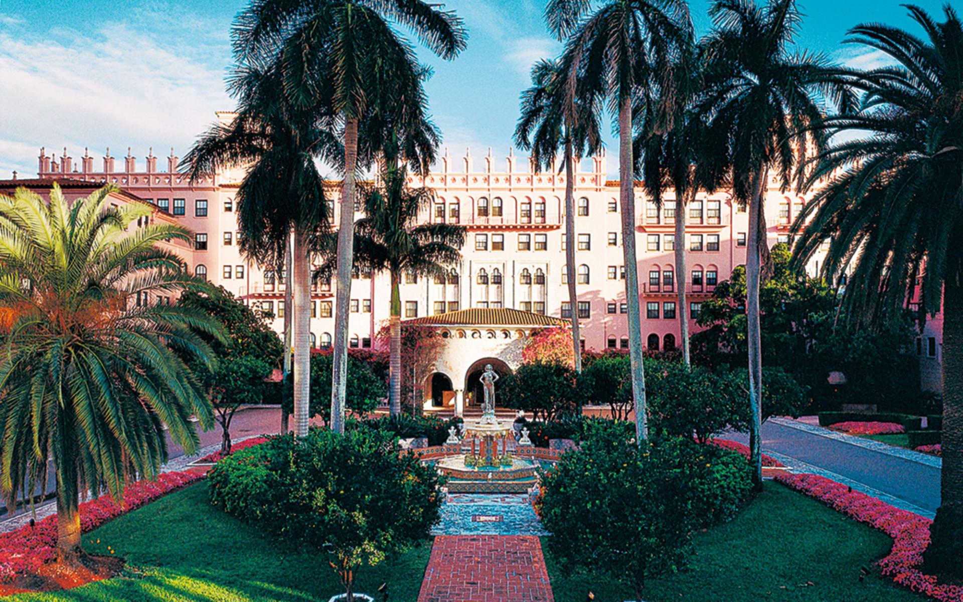 The Boca Raton: facilities boca raton resort and club palmen gartenanlage