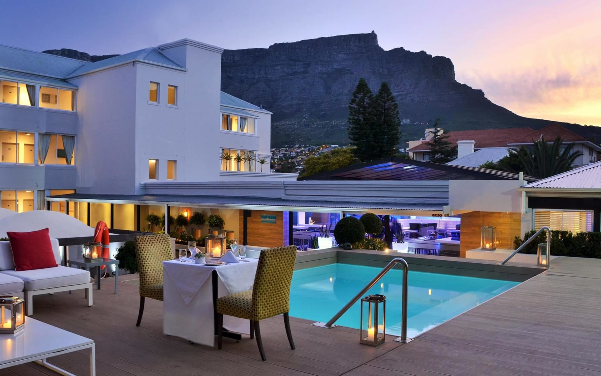 Cape Milner in Tamboerskloof: facilities Cape Milner Hote - Swimmingpool