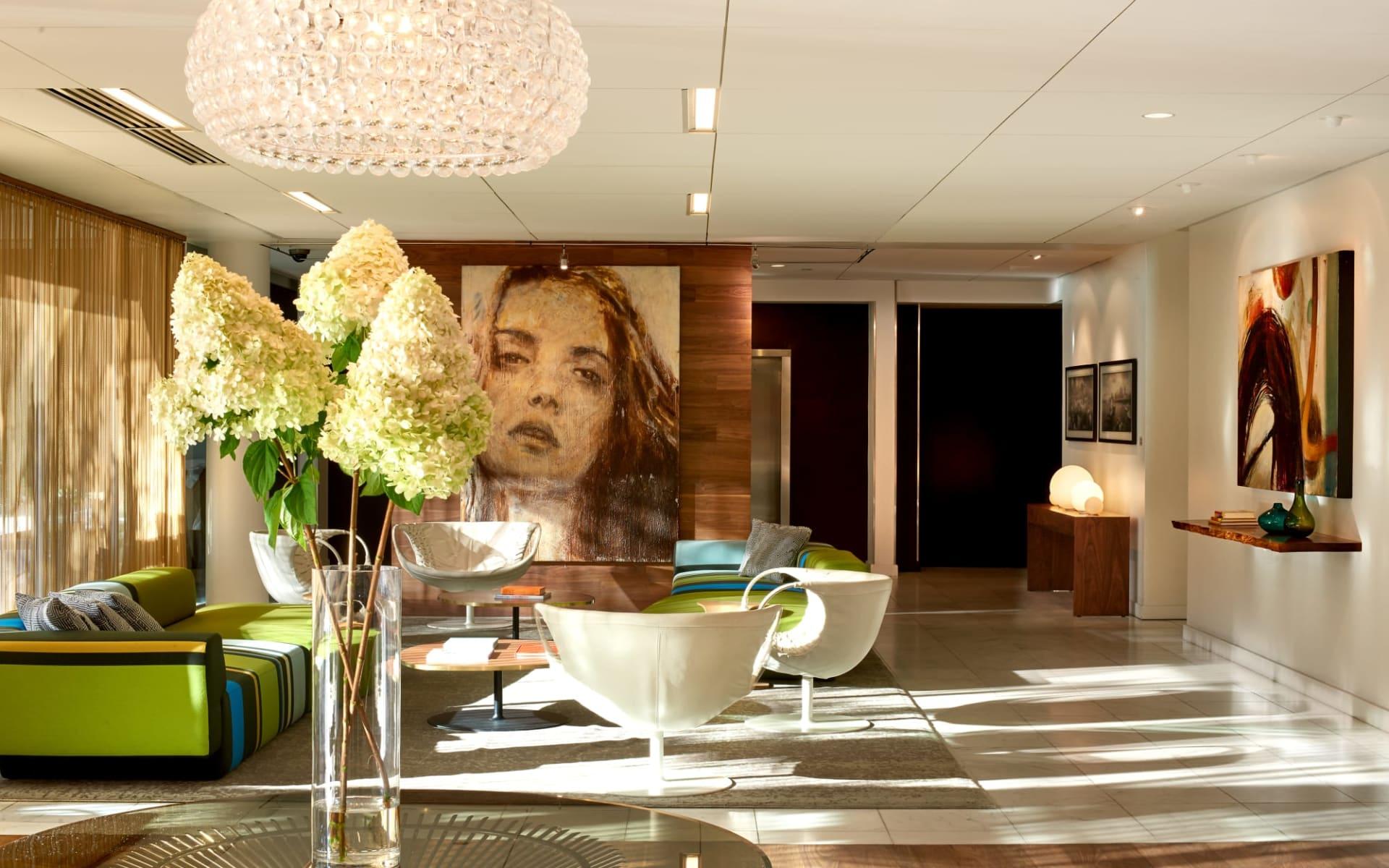 The Hotel Zags in Portland:  Hotel Modera_Lobby 2_ATI