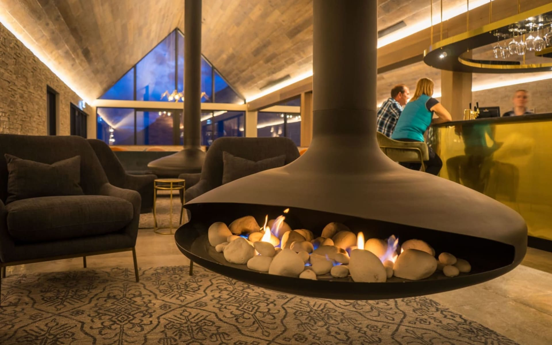 Kamana Lakehouse in Queenstown:  New fireplace