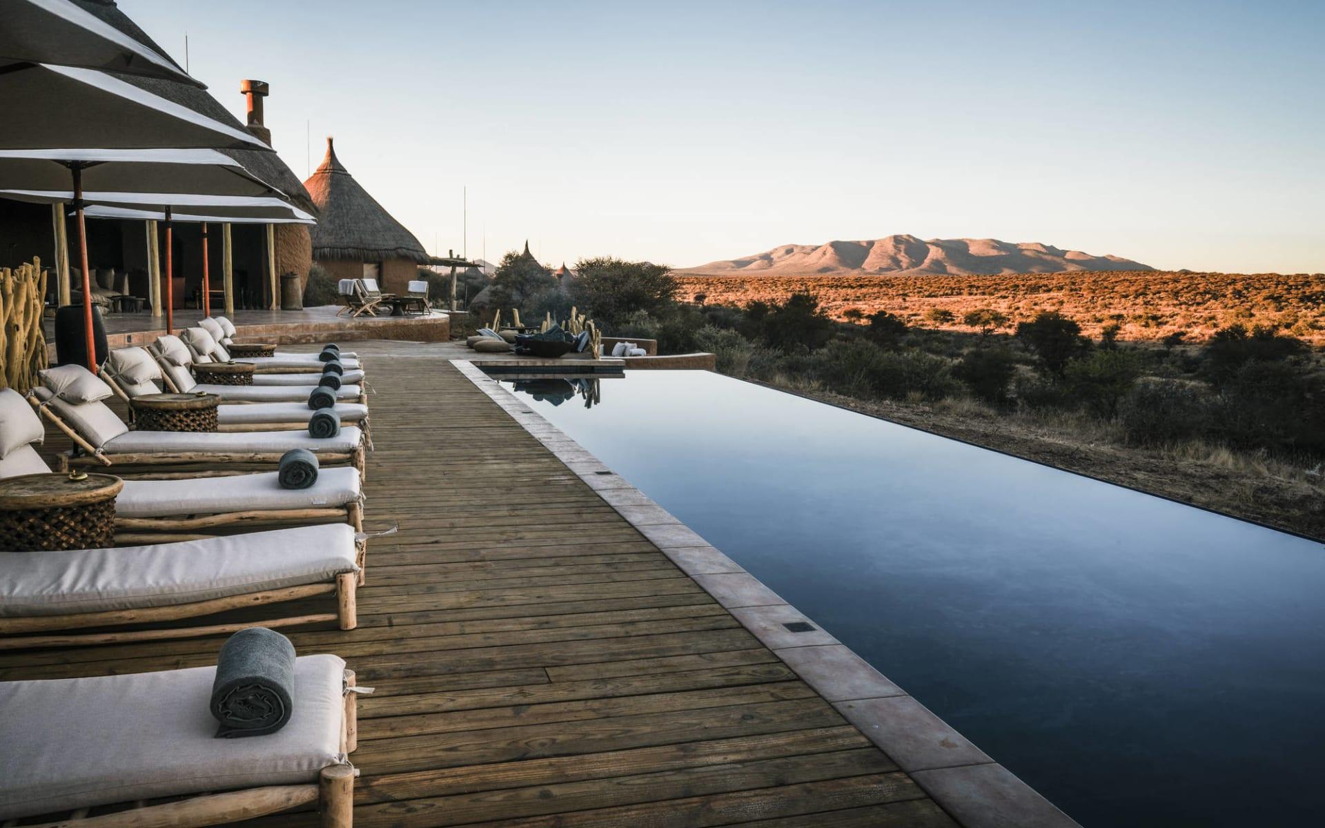 Omaanda in Windhoek Region: facilities Omaanda - Pool mit Aussicht