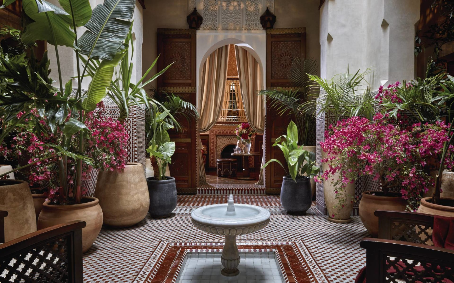Royal Mansour in Marrakesch: Patio