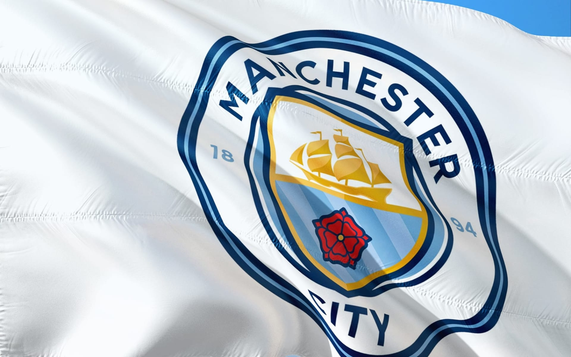 Manchester City: Flagge Manchester City