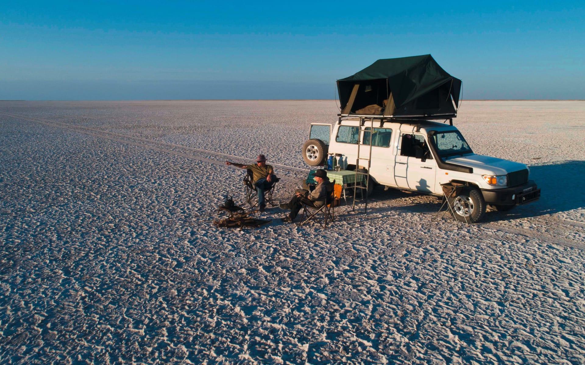 Botswana Off Road Safari inkl. Verlängerung ab Maun: fz Travel Adventure - Camping Pfanne