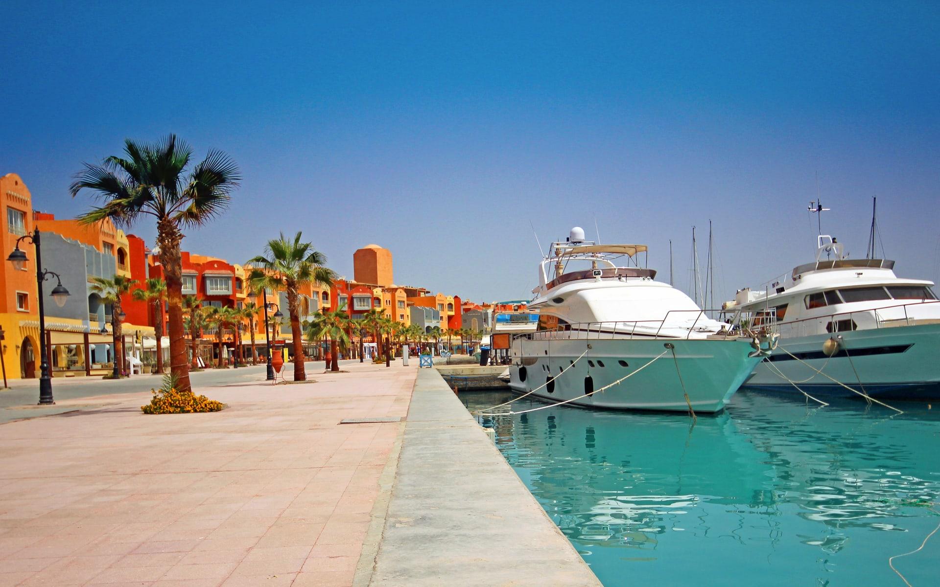 Badeferien im Dana Beach Resort ab Hurghada: Hurghada Marina