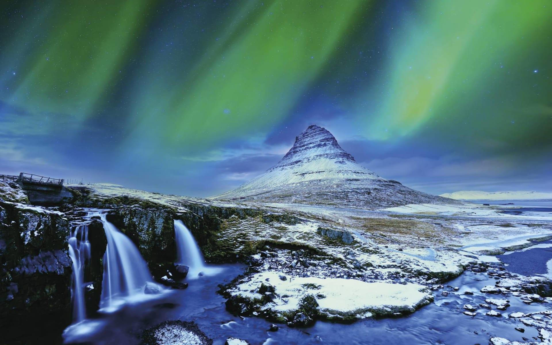 Nordlichter und heisse Quellen ab Reykjavik: Island Nacht