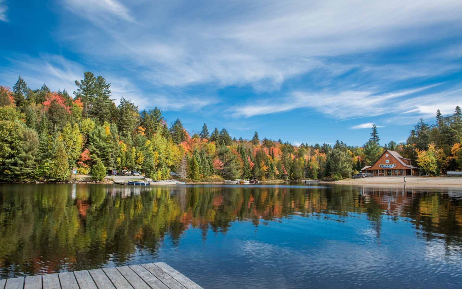 Ontarios charmante Country Inns ab Toronto: Kanada - Algonquin Provincial Park - Aussicht auf See