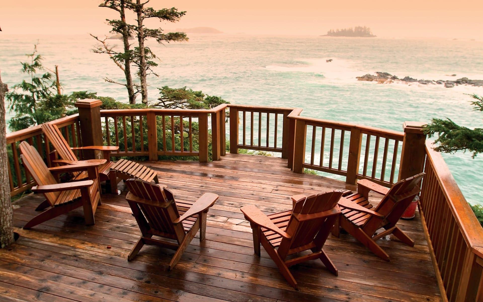 Middle Beach Lodge in Tofino: Kanada - Ausblick aufs Meer
